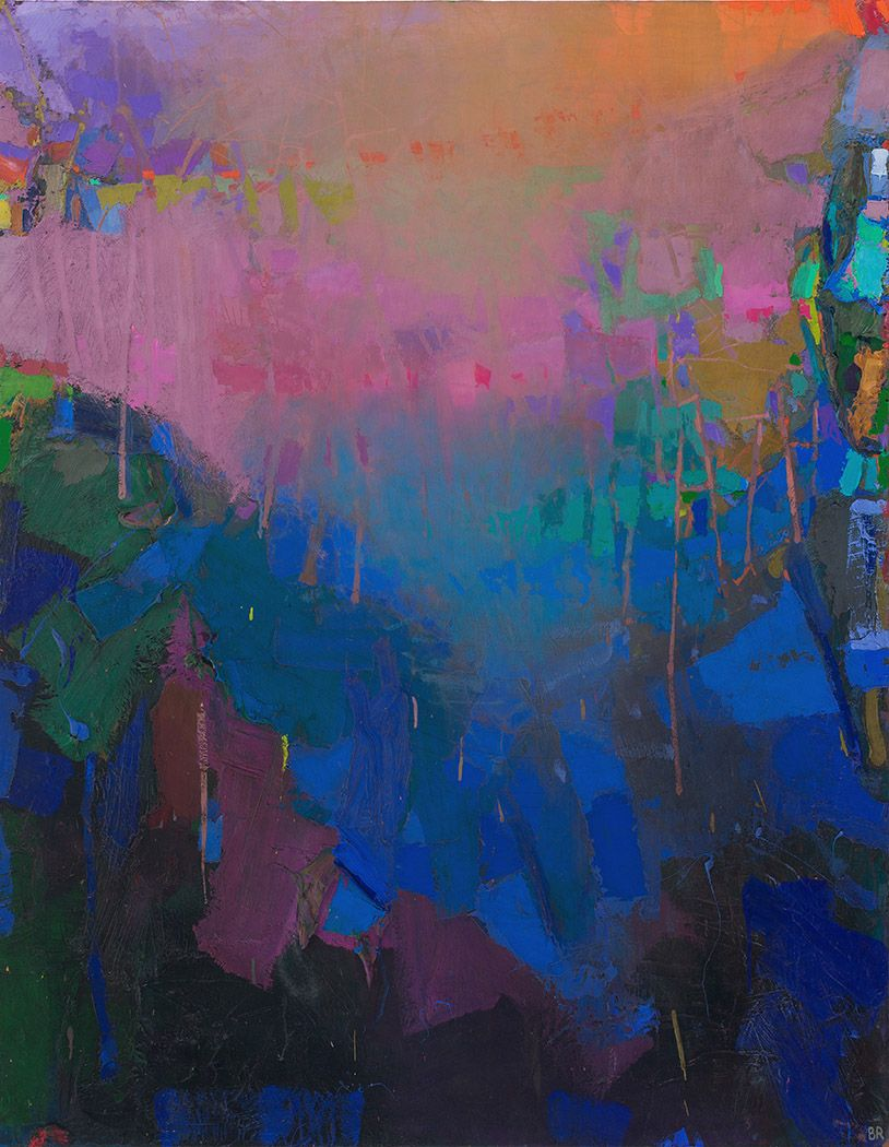 brian rutenberg, Bright (SOLD), 2014, oil on linen, 58 x 46 inches