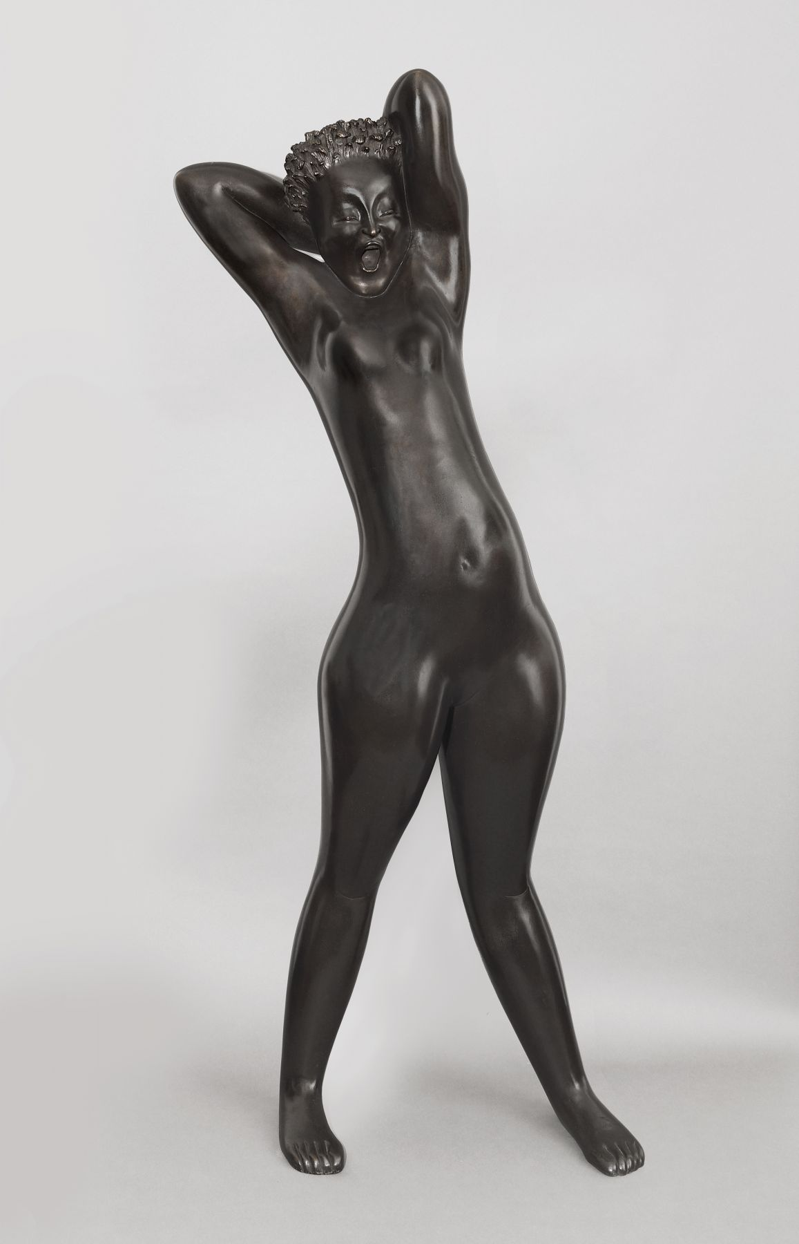 Hugo Robus, Dawn (Yawning Figure), executed in 1931, bronze, 66 1/2 x 28 x 17 inches, Edition of 6