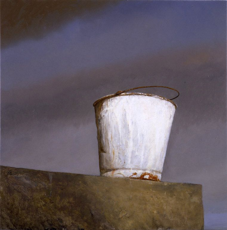 Bo Bartlett, Painter's Bucket, 2007, oil on panel, 23 3/4 x 23 3/4 inches