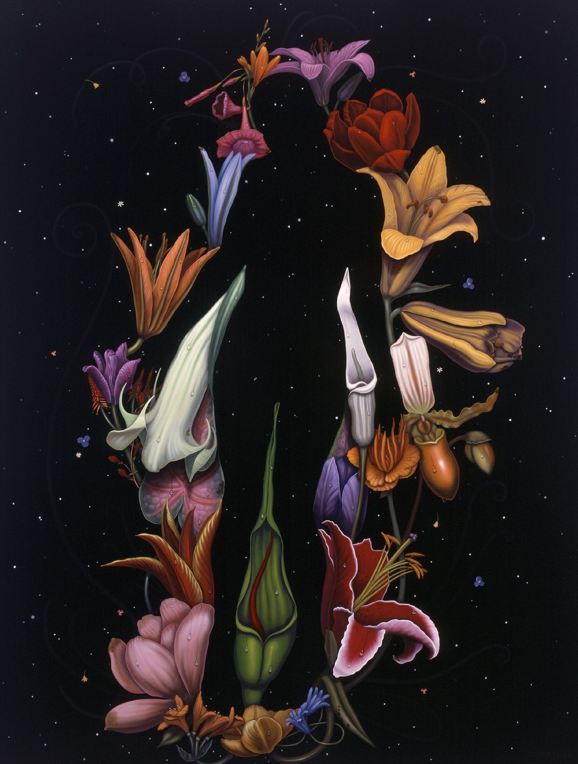 maria tomasula, Lacuna, 2004, oil on panel, 48 x 36 inches