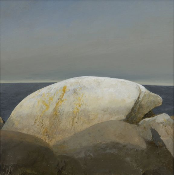 Bo Bartlett, Wedding Rock (Study for Triumph of Romance), 2008, oil on panel, 22 1/2 x 22 1/2 inches