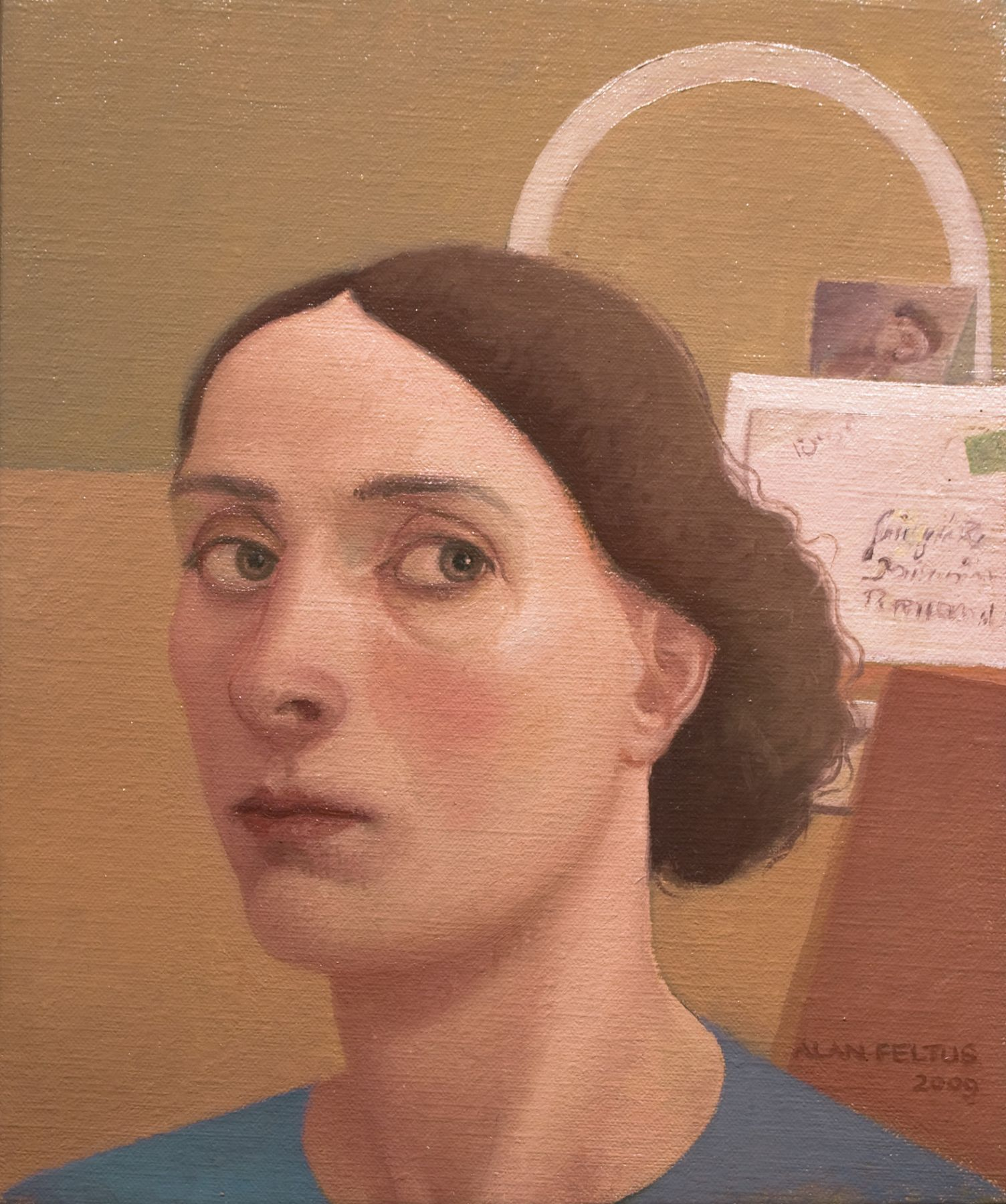 alan feltus, Alba, 2009, oil on canvas, 11 3/4 x 9 3/4 inches