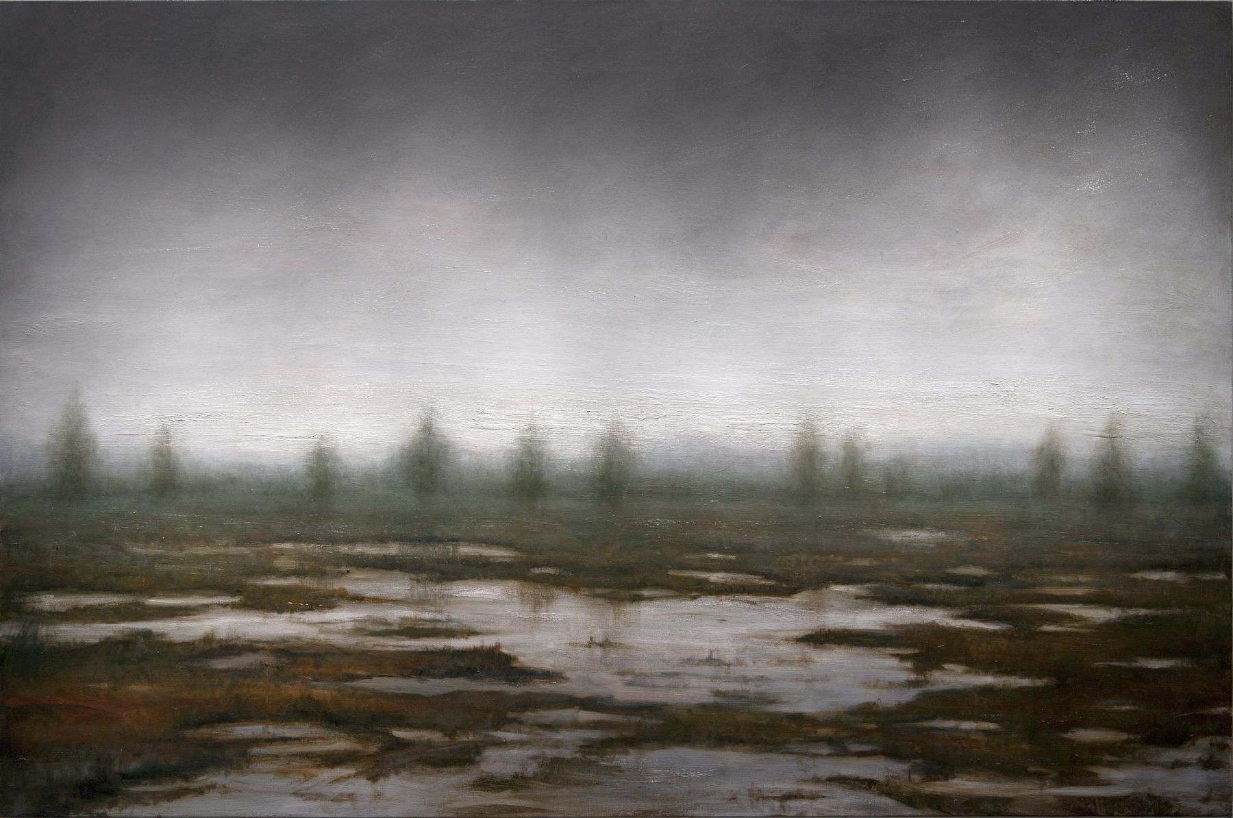 alyssa monks, Africa, 2015, oil on linen, 54 x 82 inches
