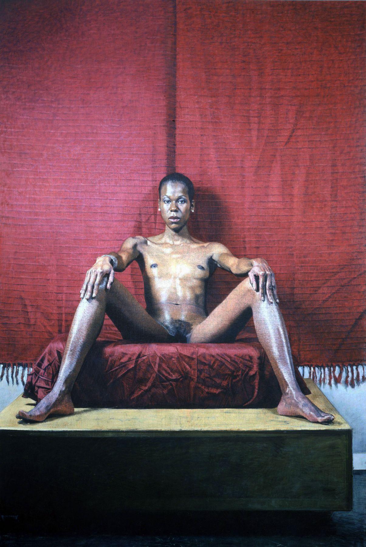 Bernardo Siciliano, Janelle (SOLD), 2008, oil on canvas, 90 3/4 x 60 1/2 inches