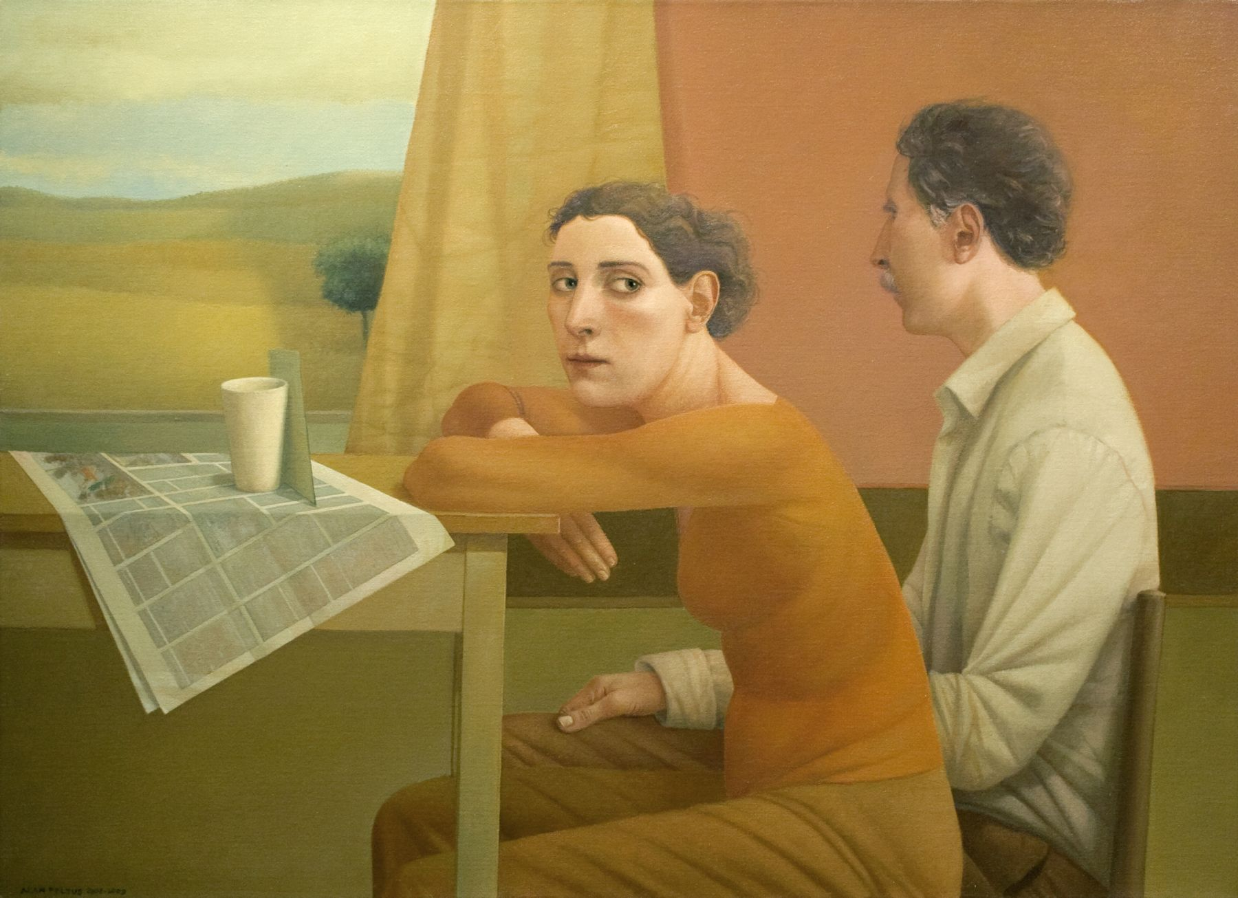 alan feltus, No Words Could Explain, 2008-09, oil on canvas, 31 1/2 x 31 1/4 inches