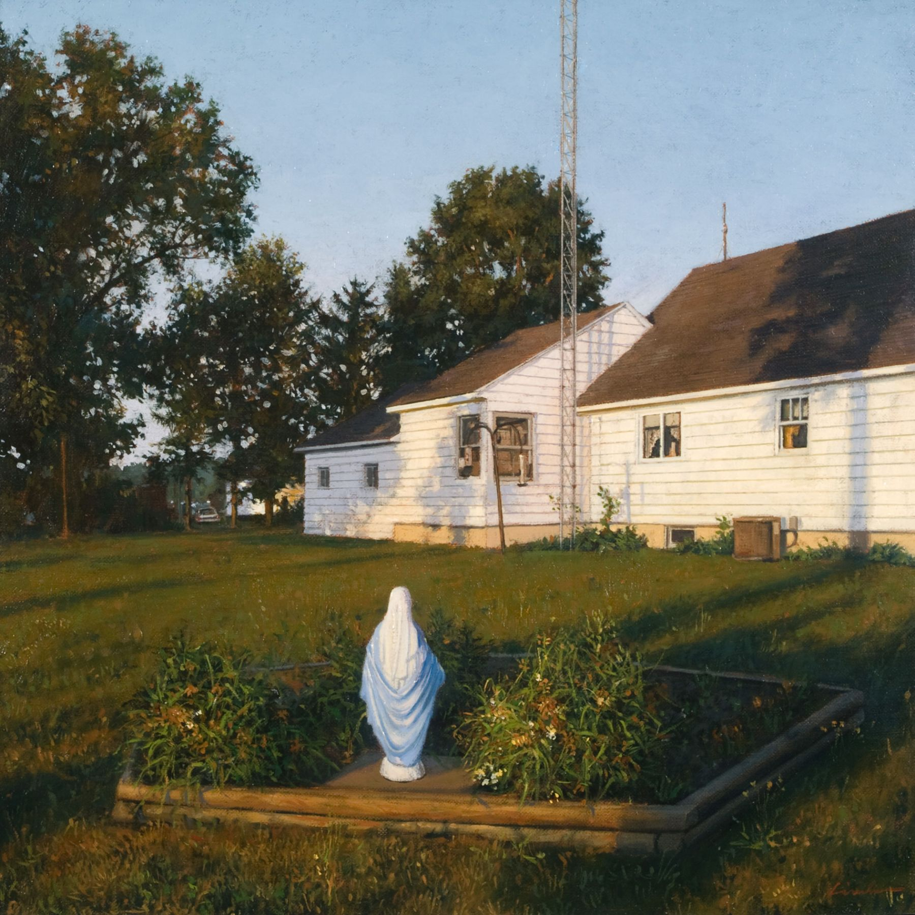 Linden Frederick, Ham Radio (SOLD), 2007, oil on panel, 12 1/4 x 12 1/4 inches