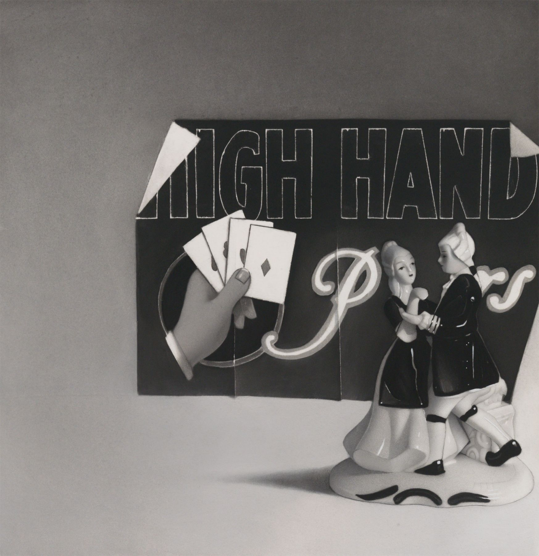 susan hauptman, Still Life (IGH HAND Ps), 2013, charcoal on paper, 32 x 34 inches