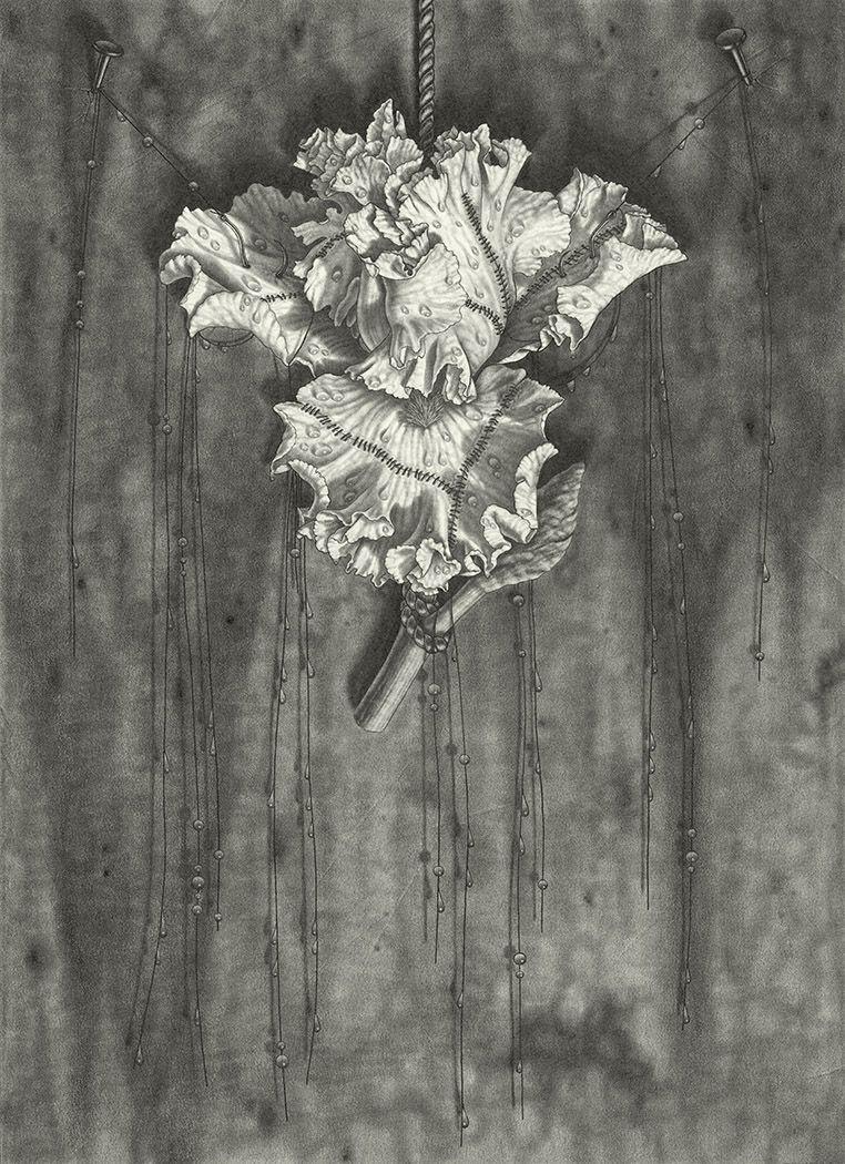 maria tomasula, Abode, 2018, graphite on paper, 22 x 16 inches