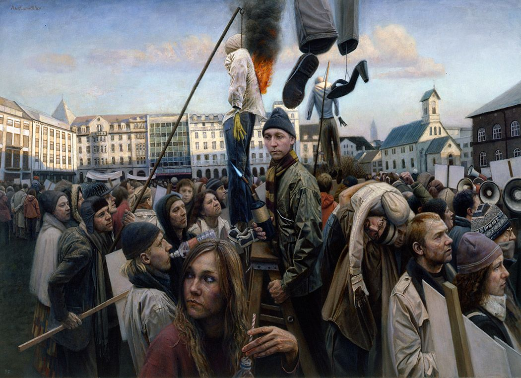 paul fenniak, A Crowd in Shadow (SOLD), 2009-10, oil on canvas, 60 x 84 inches