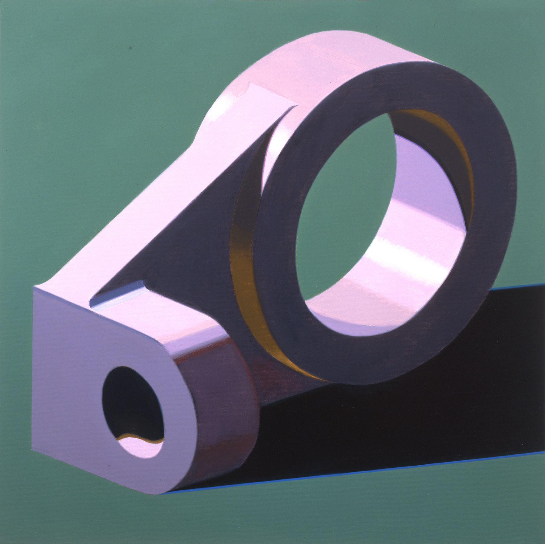 Robert Cottingham, Component IX, 2005, gouache on paper, 5 1/2 x 5 1/2 inches