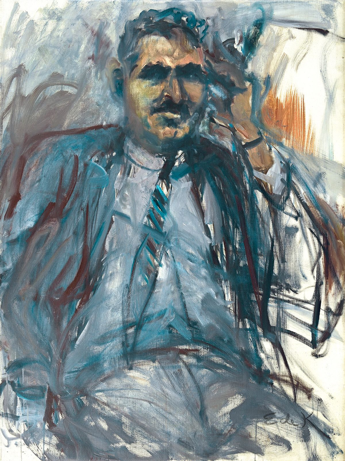 Elaine de Kooning, Harold Rosenberg #2, 1967 oil on canvas 48 1/4 x 36 inches