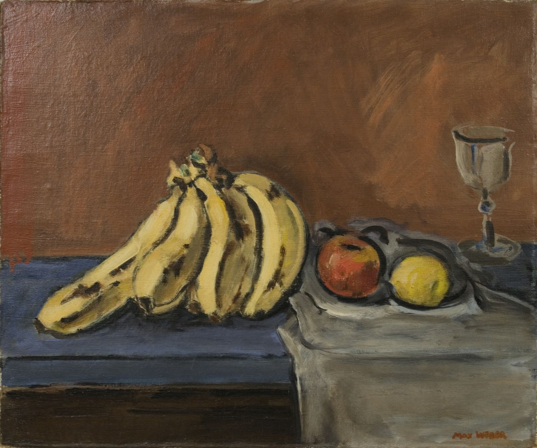 Max Weber, Still Life, c.1913, oil on canvas, 15 1/4 x 18 1/8 inches
