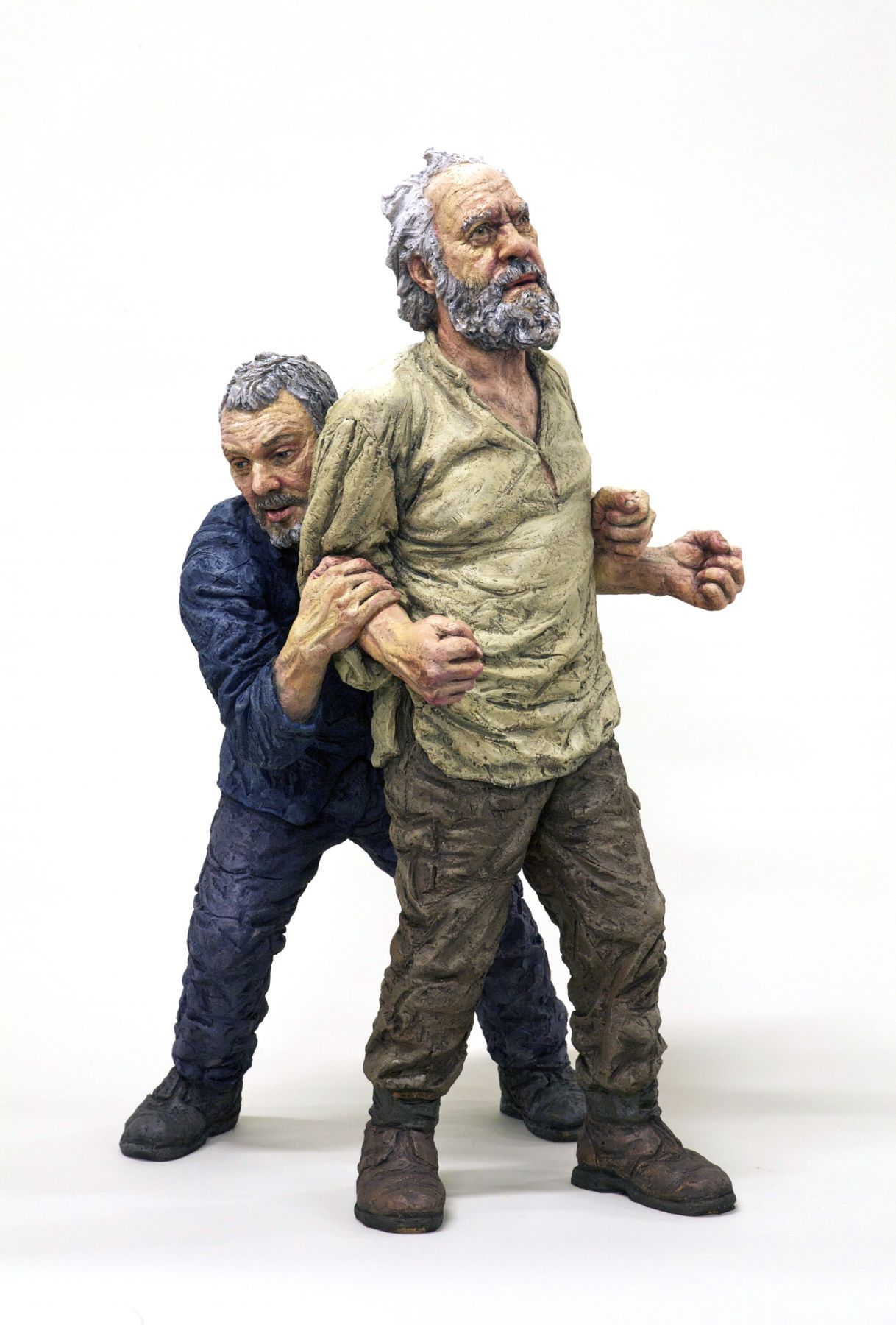 sean henry, T.B.T.F., 2013, bronze, oil paint, 25 x 13 x 17 inches, Edition of 6