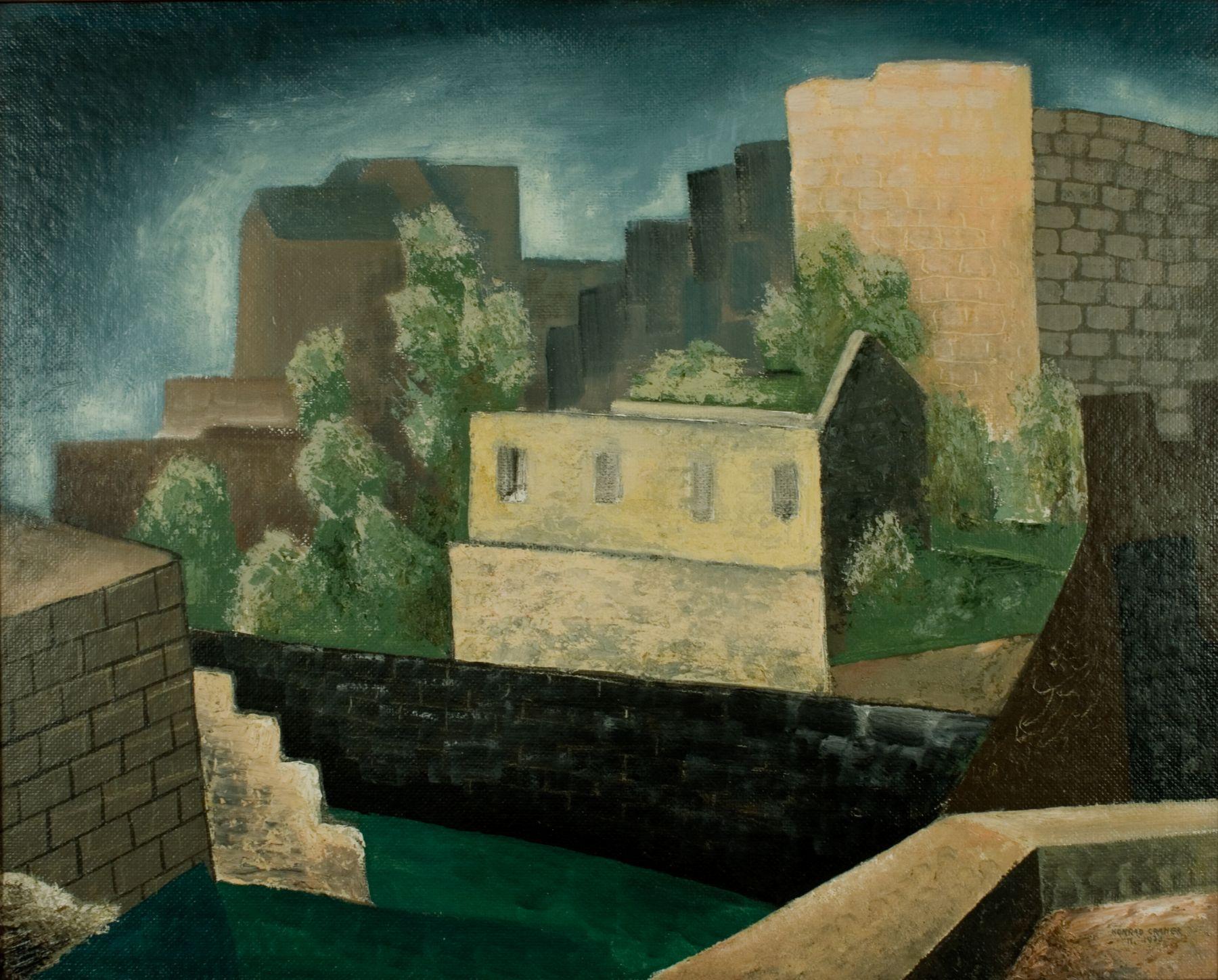Konrad Cramer, Deserted Lime Kilns, 1930, oil on canvasboard, 24 x 30 inches