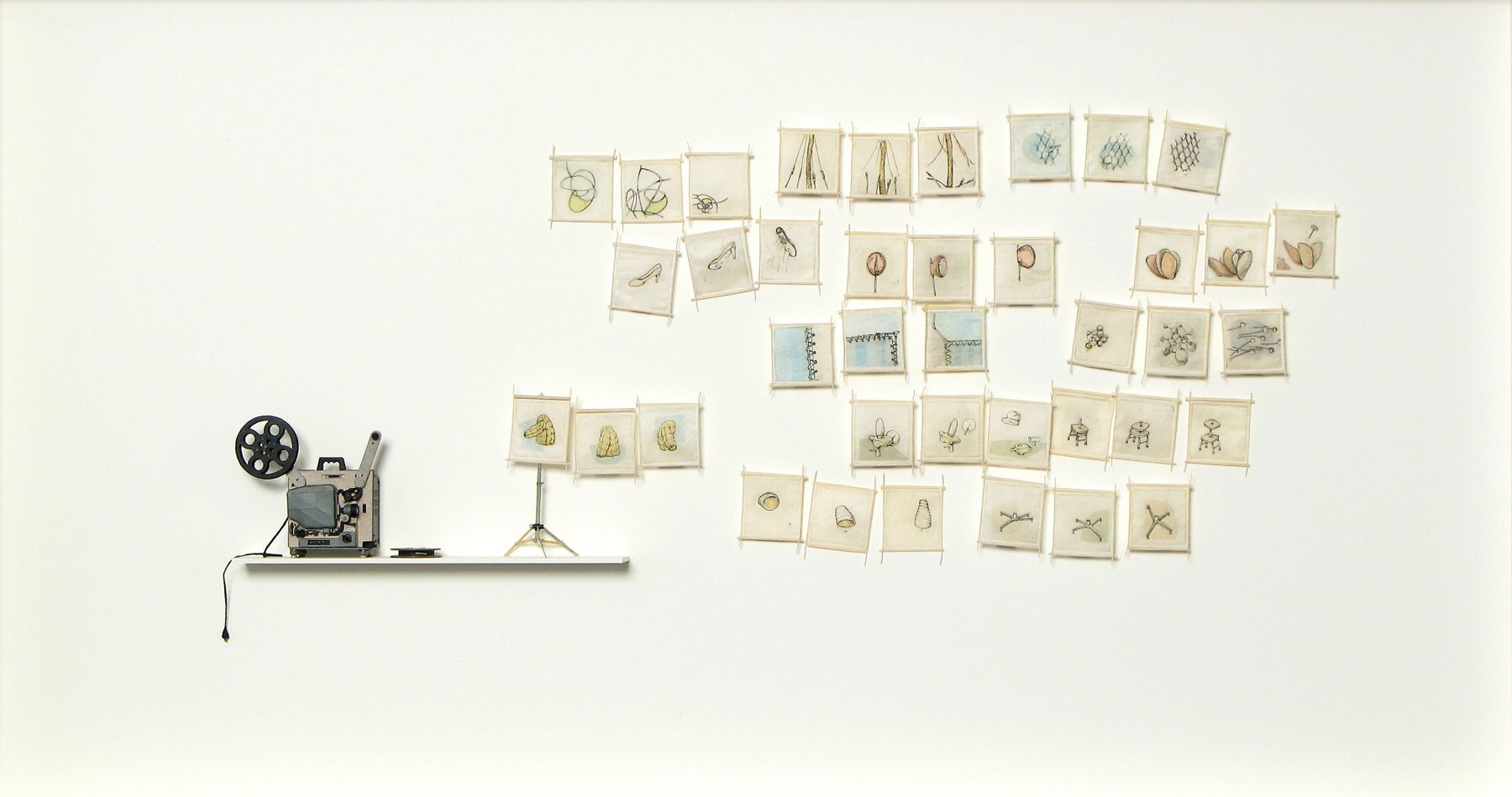 Cybèle Young, I Didn't See that Part, 2008, Japanese paper construction with copperplate etching and chine colle, 23 1/2 x 42 1/2 x 3 inches
