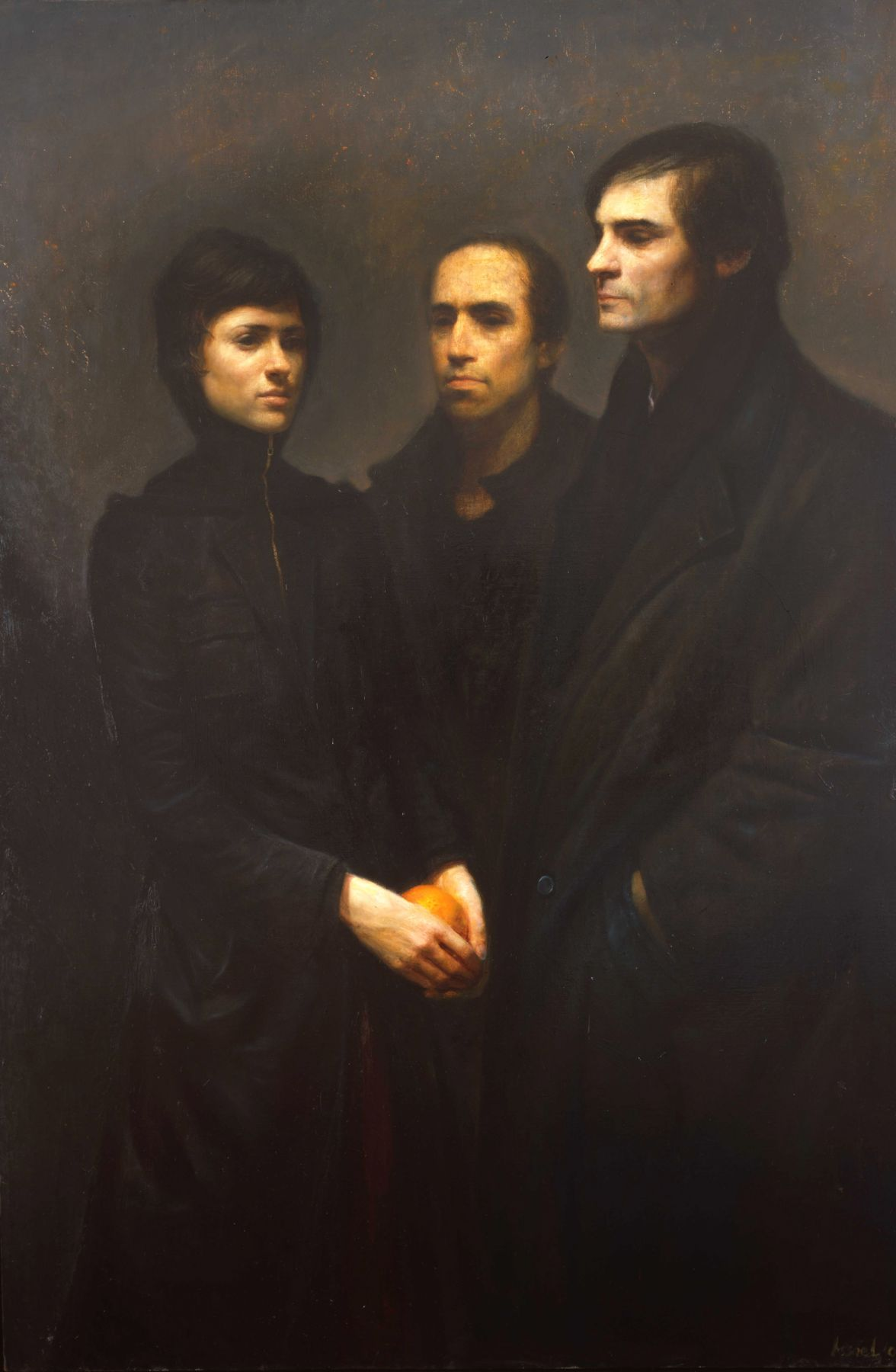 Steven Assael, Alex, Nathan, and Morgan, 2008, oil on canvas, 71 x 48 inches
