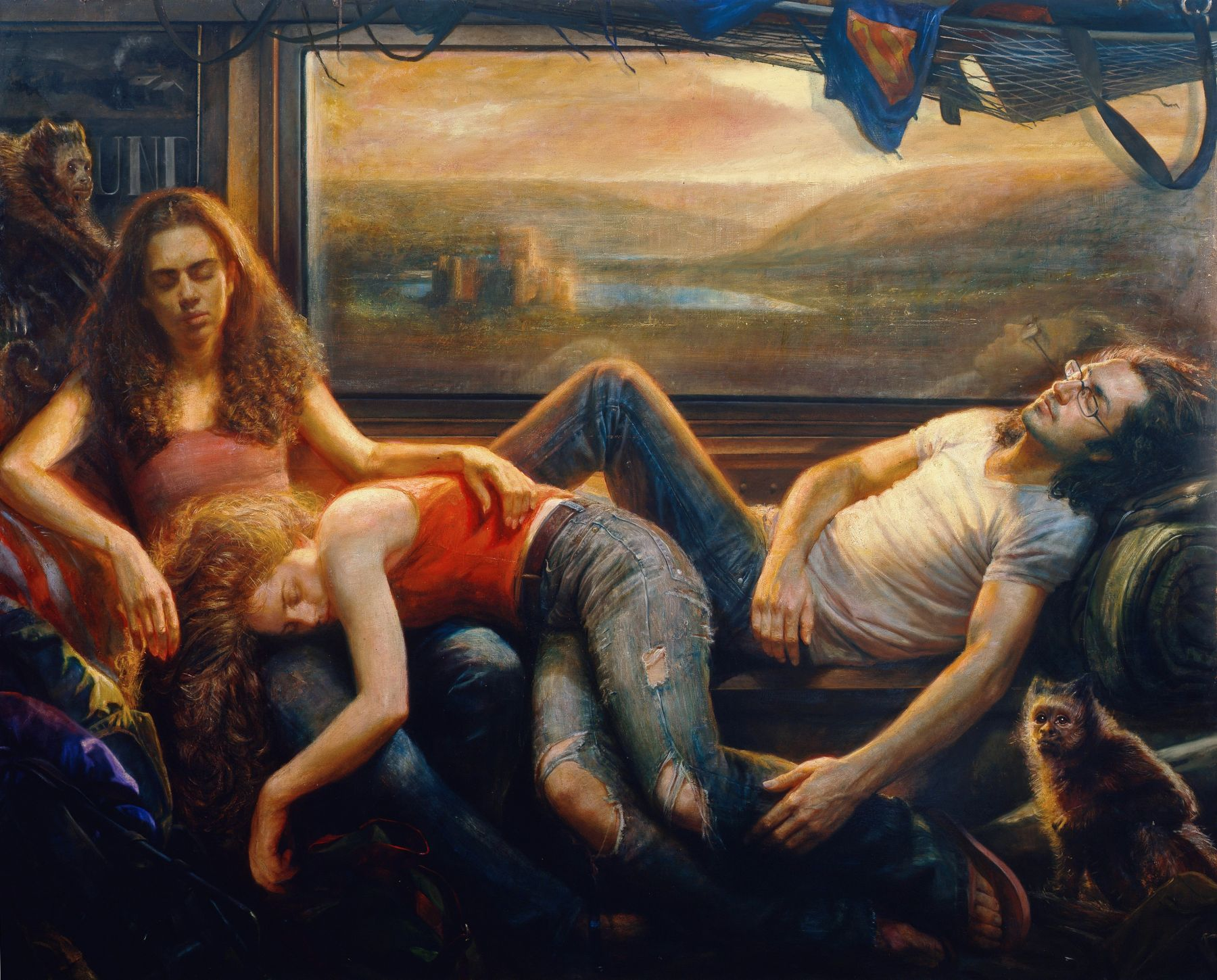 Steven Assael, Passengers (SOLD), 2008, oil on canvas, 72 x 90 inches