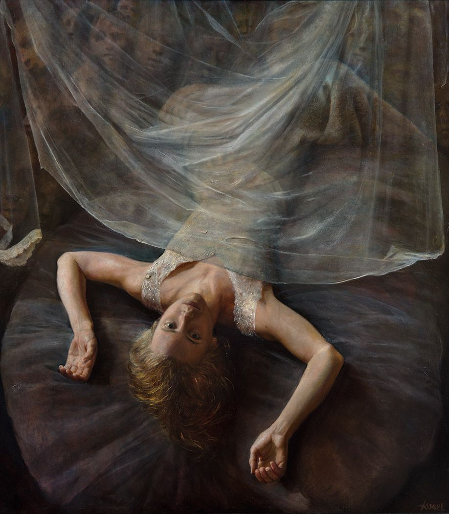 Steven Assael, Fallen Bride, 1992 - 2015, oil on board, 52 1/2 x 47 inches