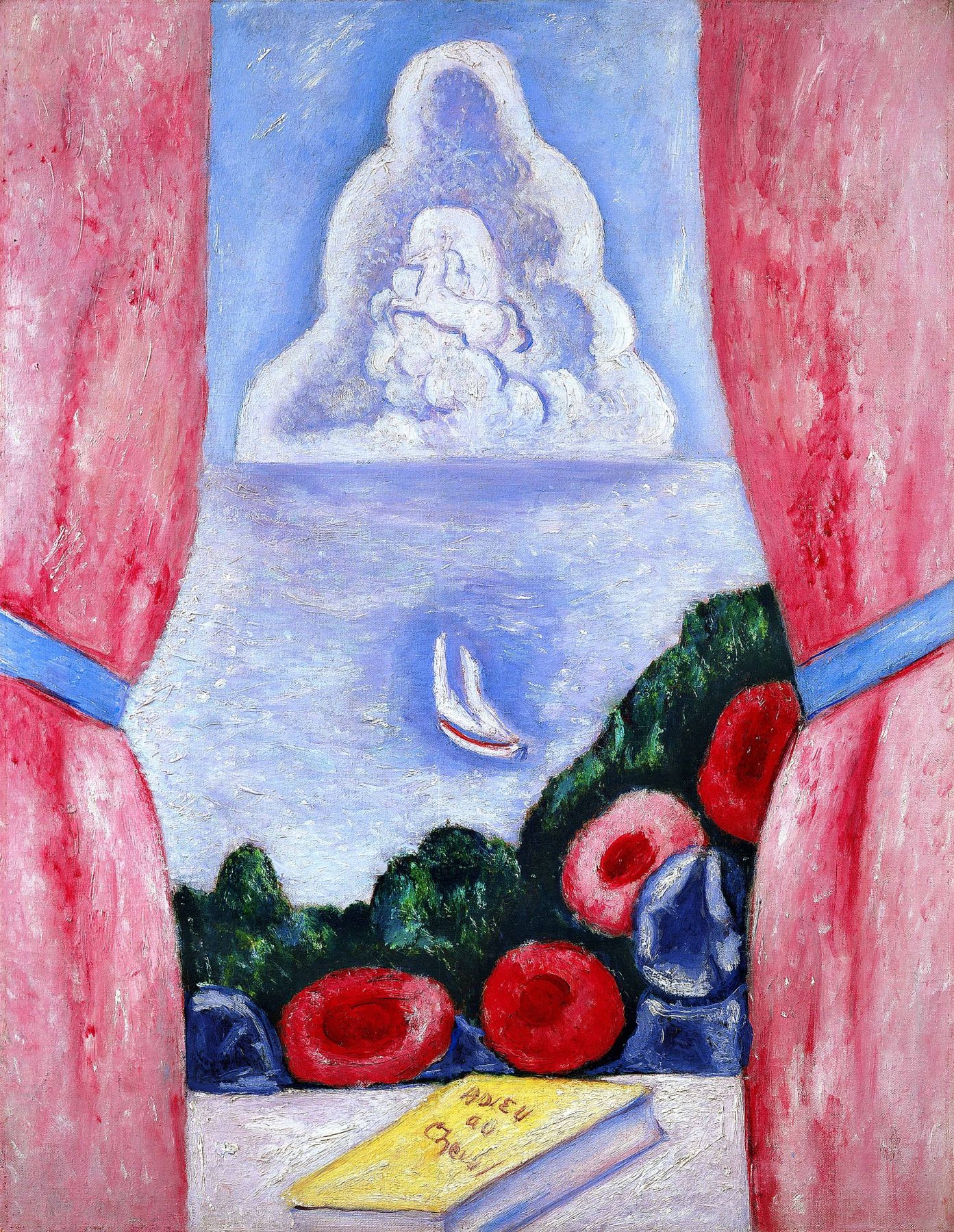 marsden hartley, View from a Window, c. 1935-36, oil on canvas board, 24 x 18 inches