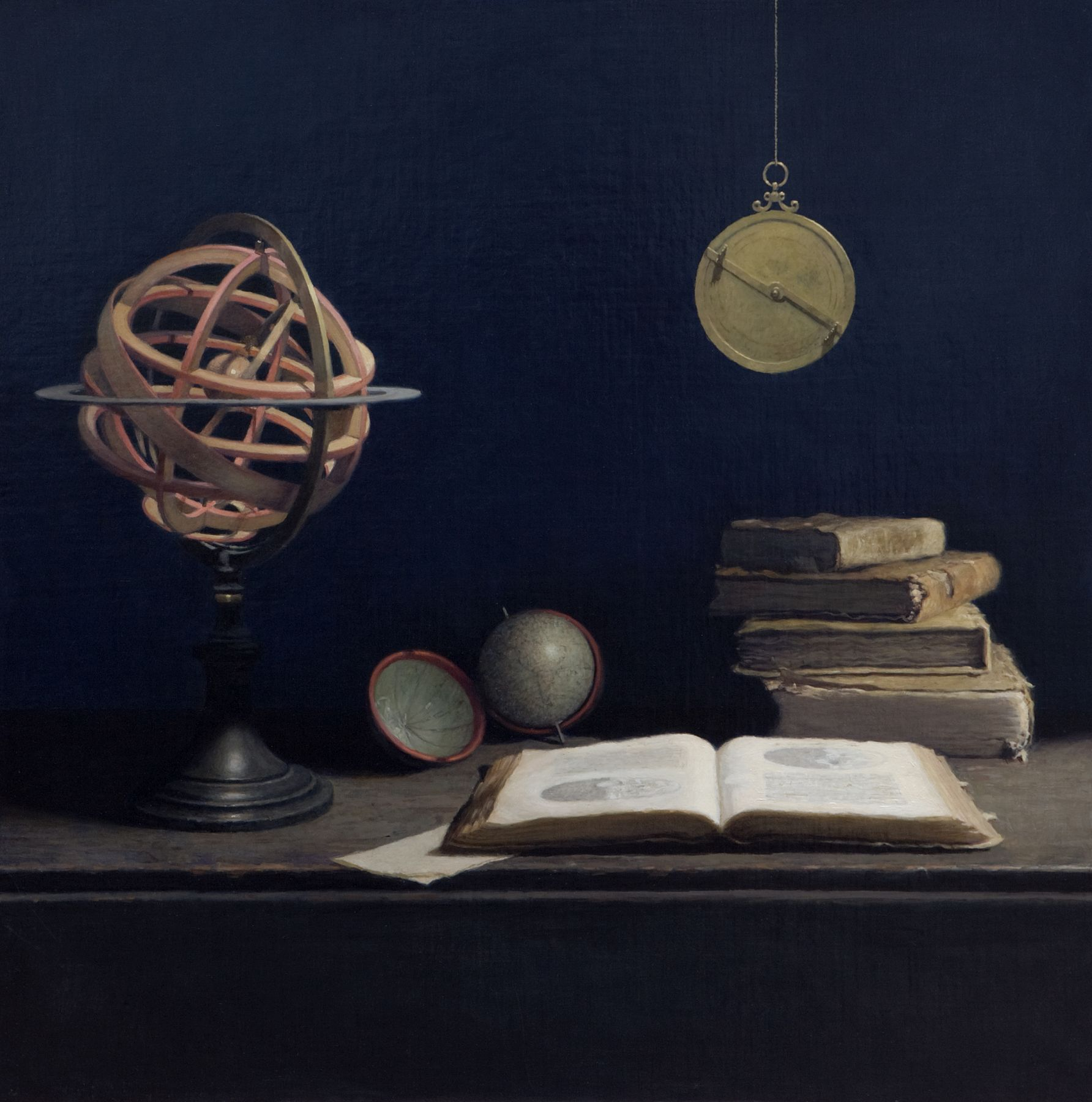 guillermo munoz vera, Sidereus Nucius, 2010, oil on canvas on panel, 35 3/8 x 35 3/8 inches