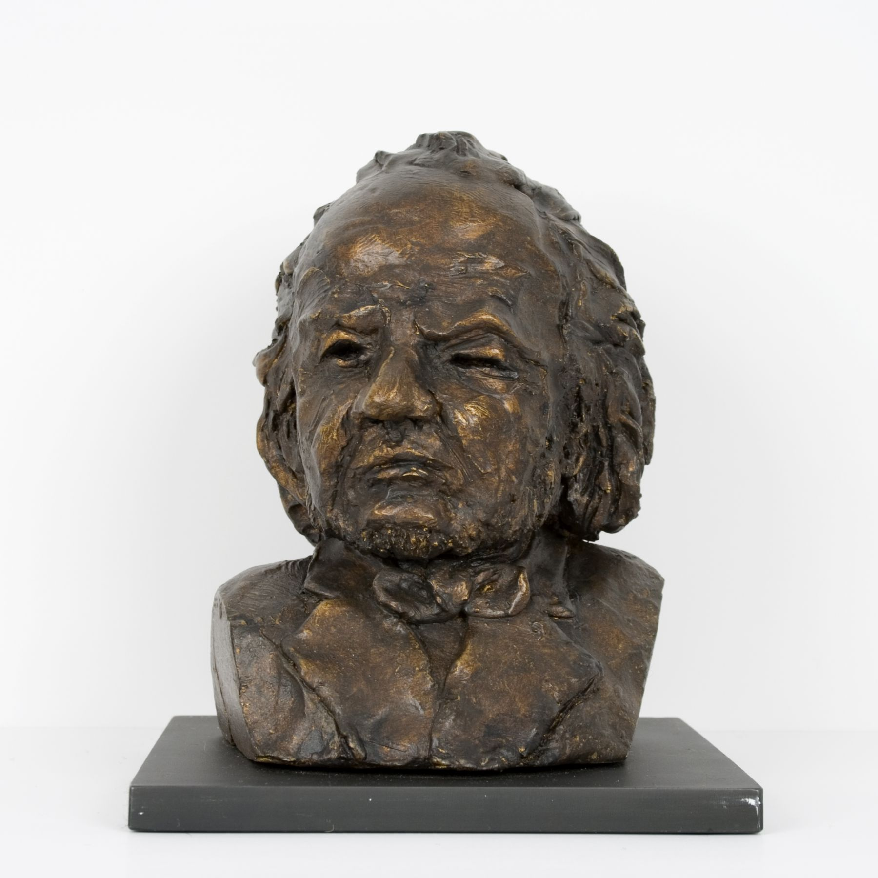 Al Farrow, Portrait of Honoré Daumier, 2018, epoxy clay on steel base, 8 x 5 3/4 x 6 1/4 inches