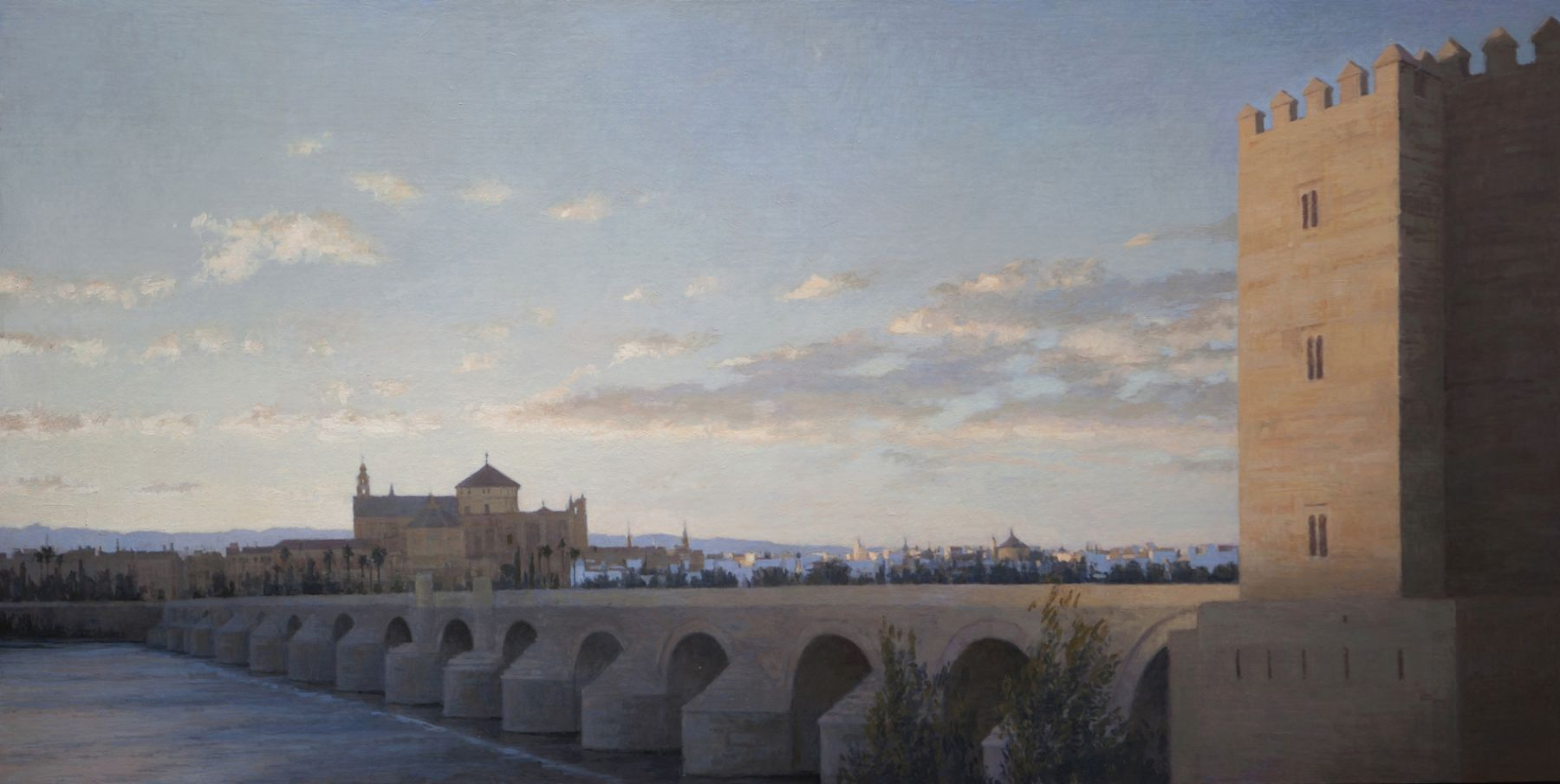 guillermo munoz vera, The Calahorra Tower, 2013, oil on canvas mounted on panel, 29 1/2 x 59 inches