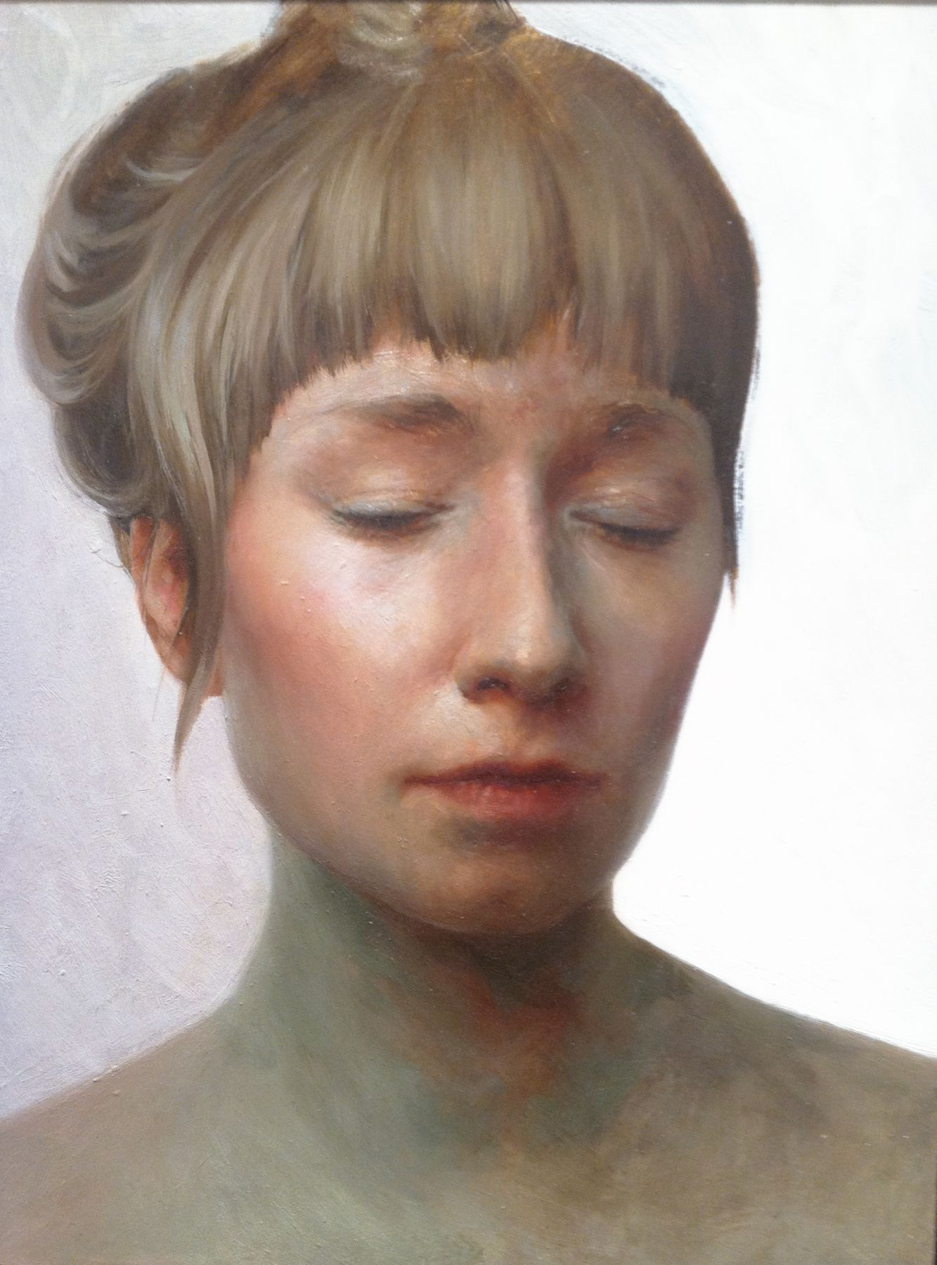 Aleah Chapin, Today (SOLD), 2012, oil on panel, 16 x 12 inches