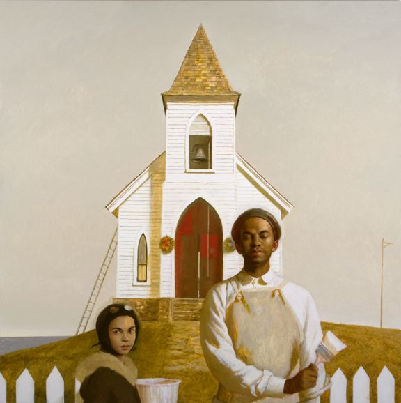 Bo Bartlett, A Glory of Painting (SOLD), 2009, oil on linen, 60 x 60 inches