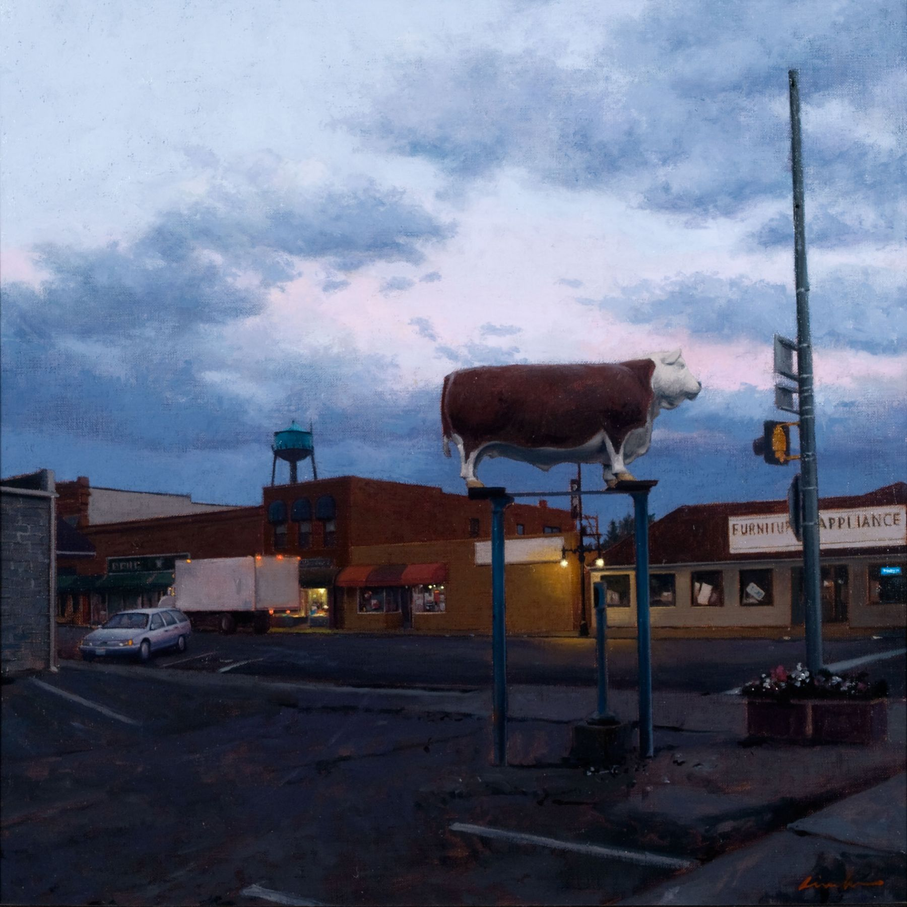 Linden Frederick, Mascot (SOLD), 2007, oil on panel, 12 1/4 x 12 1/4 inches