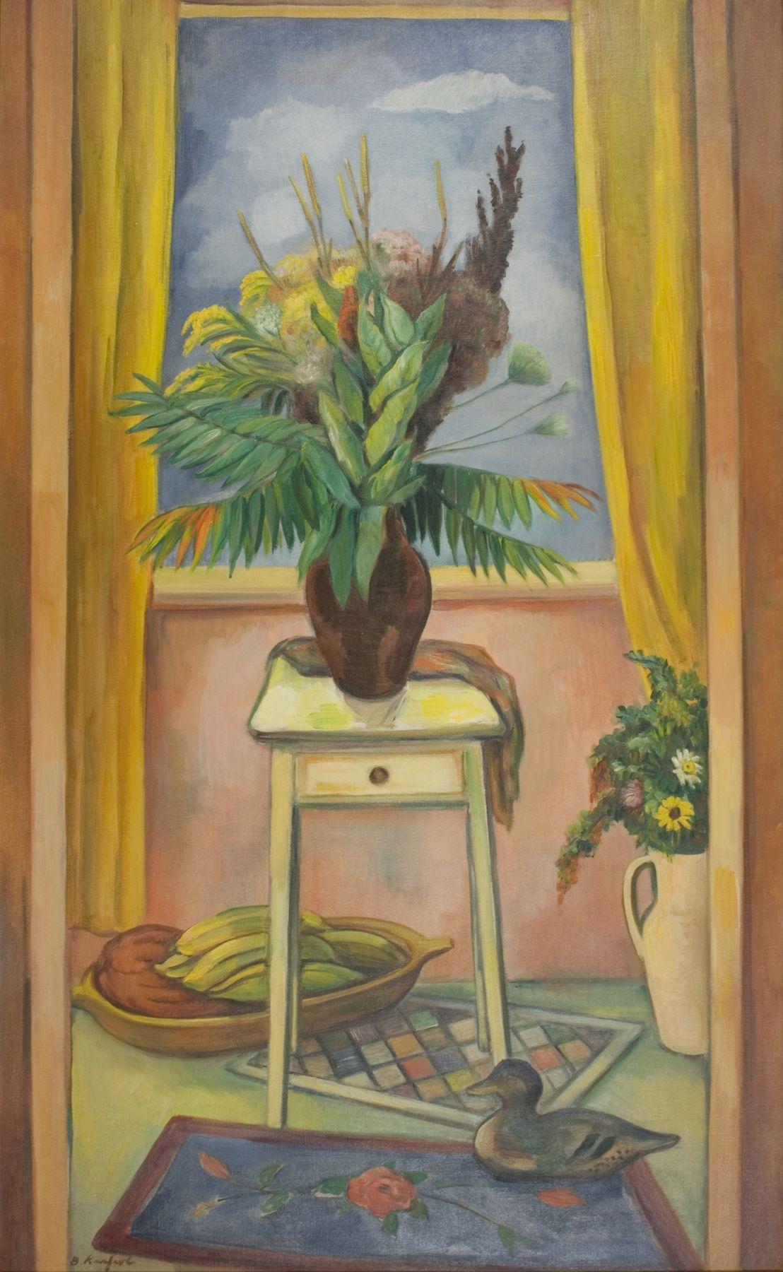bernard karfiol, Still-life with Milkweed and Wild Stuff, 1947, oil on canvas, 50 x 30 inches