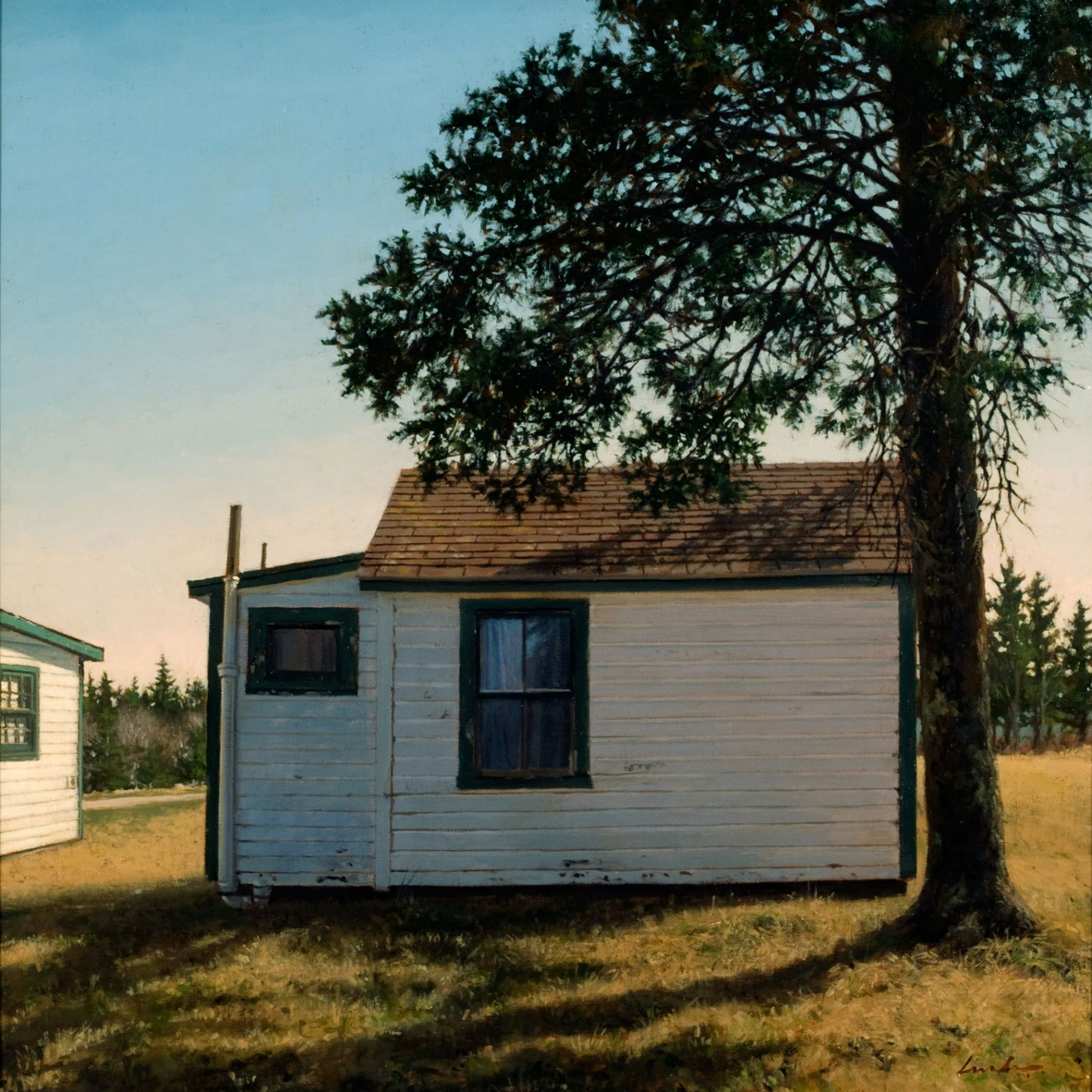 Linden Frederick, Cabin 5 (SOLD), 2007, oil on panel, 12 1/4 x 12 1/4 inches