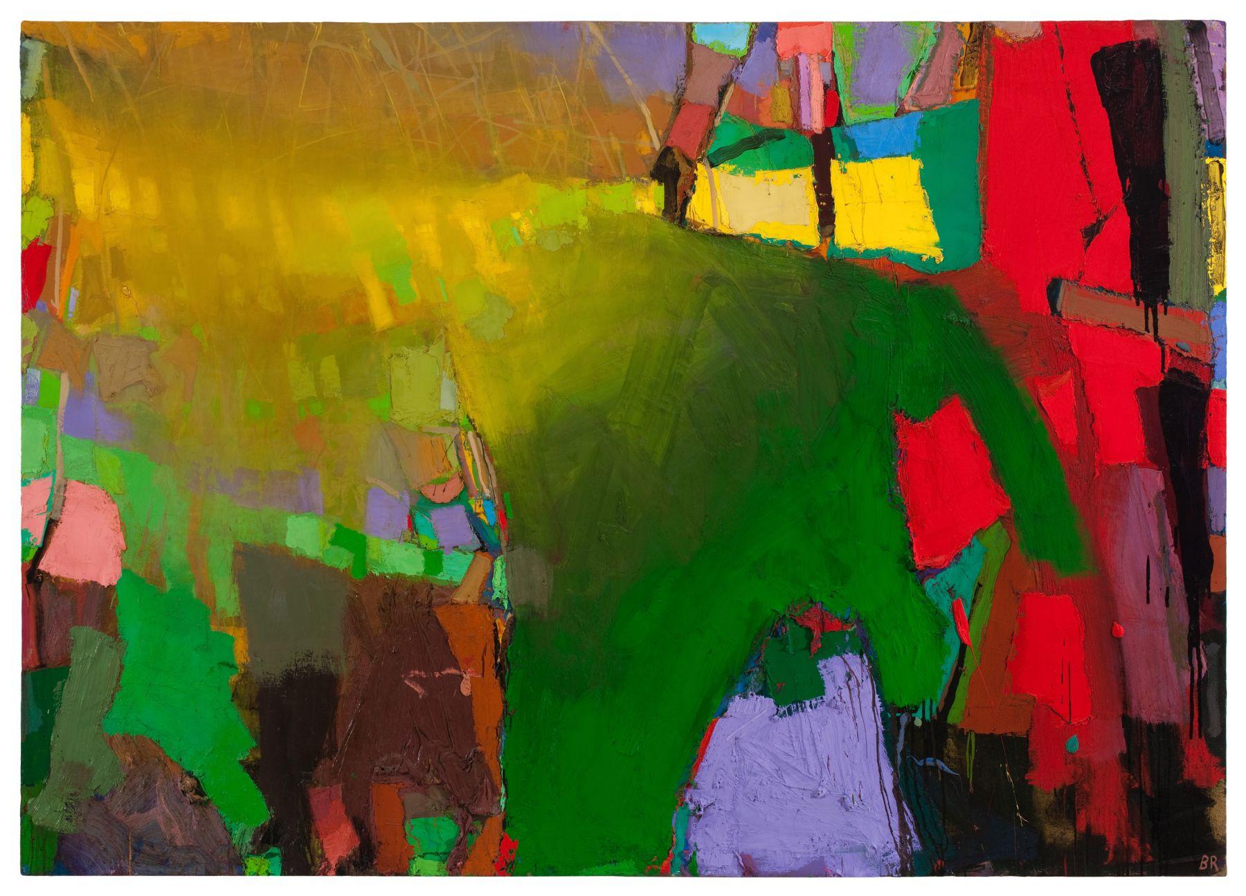 Brian Rutenberg Lemon Tide (SOLD), 2009-10, oil on linen, 56 x 79 inches