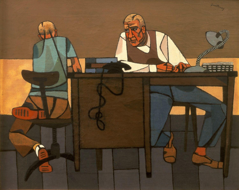 Robert Gwathmey, Like Son, 1948, oil on canvas, 16 x 20 inches