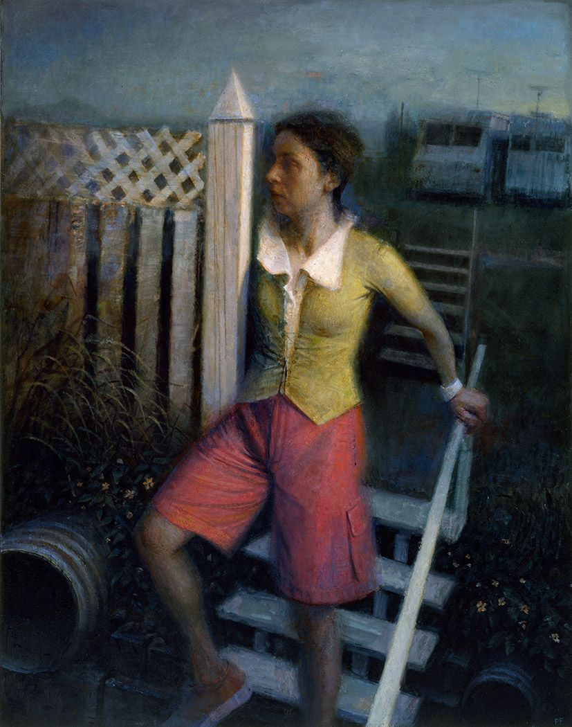 paul fenniak, Departure, 2012, oil on canvas, 54 x 42 inches