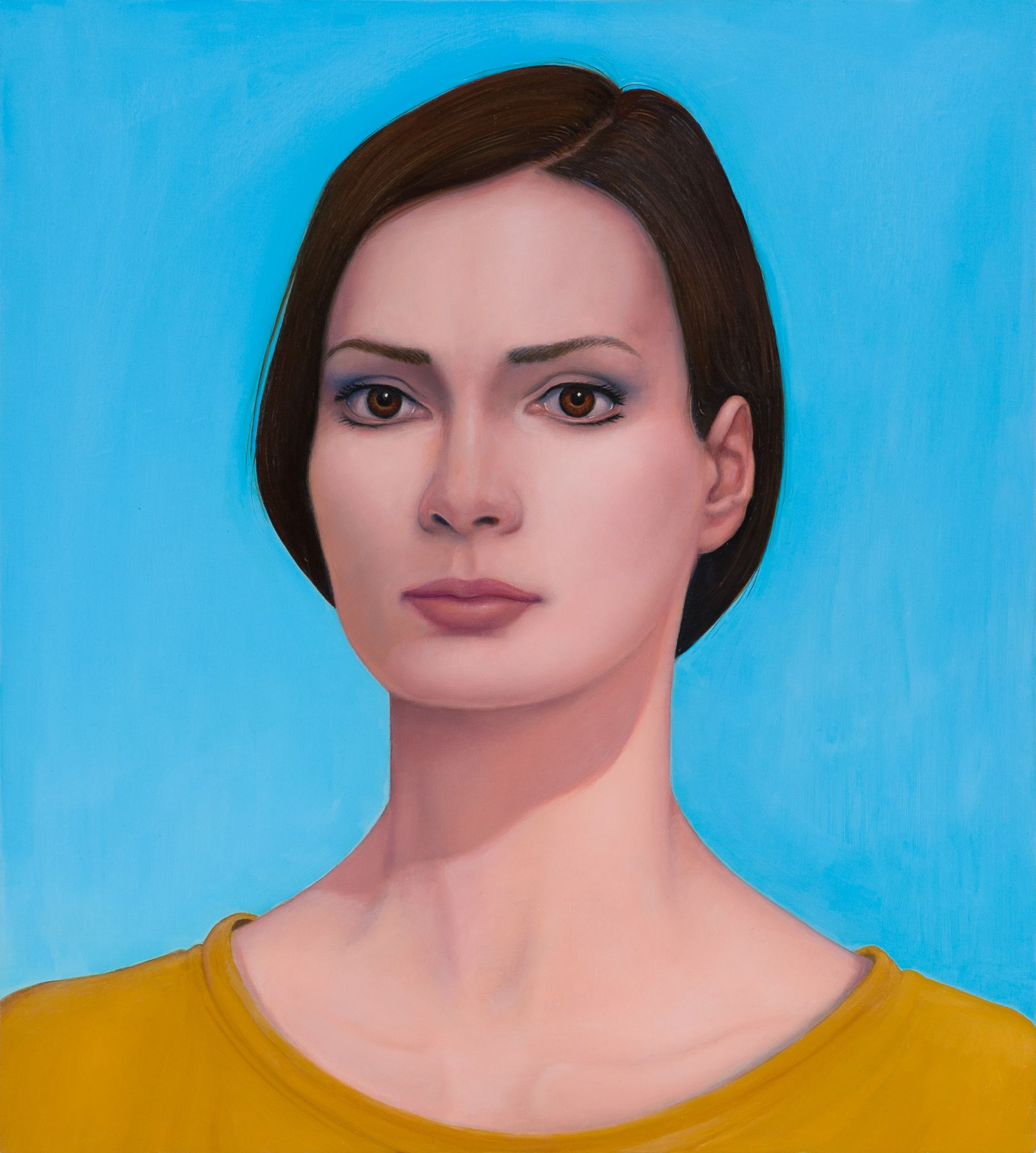 william beckman, Young Woman, 2013, oil on panel, 20 x 18 inches
