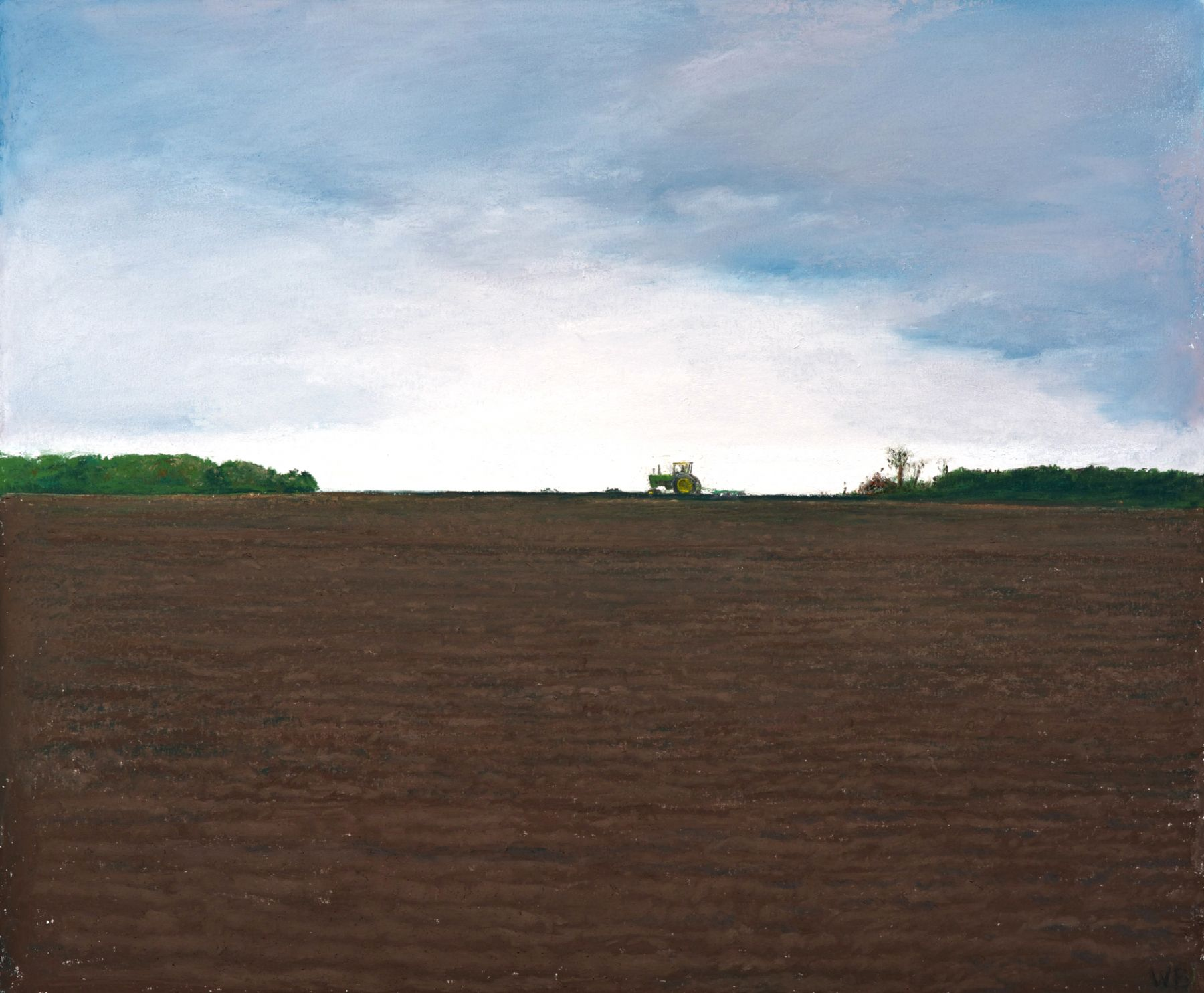 william beckman, John Deere 1, 2014, pastel on paper, image: 20 1/4 x 24 1/4 inches, paper: 24 x 1/4 x 28 1/4 inches