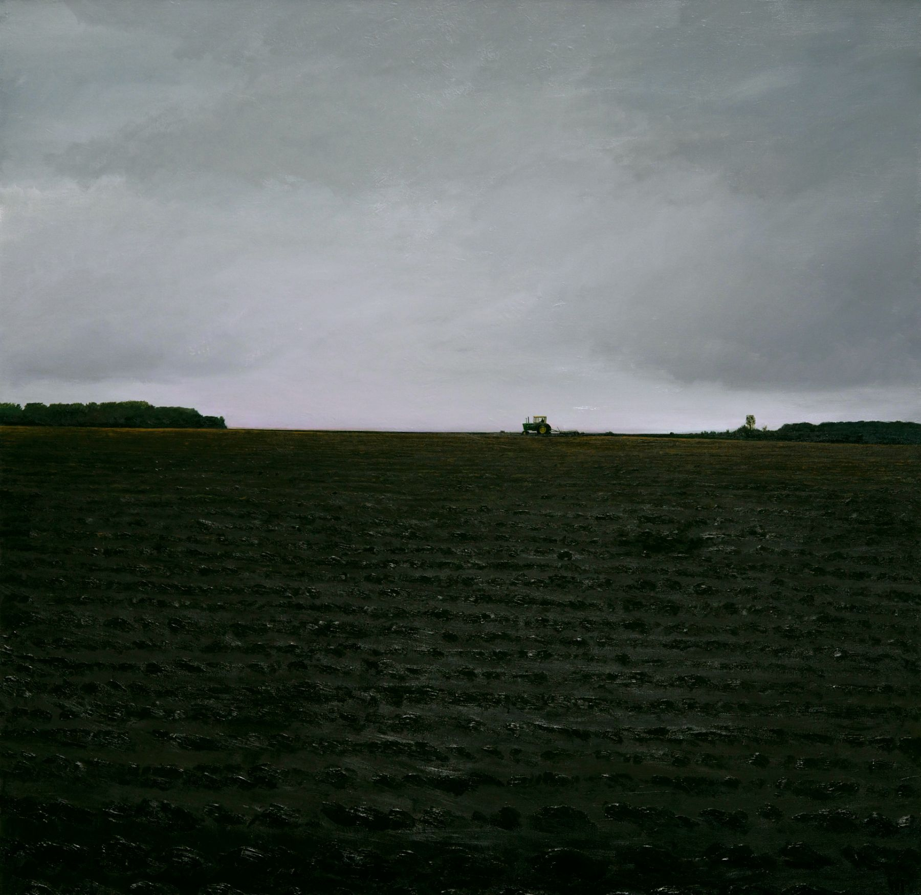 william beckman, J.D. Plowing, 2013-14, oil on canvas, 79 1/2 x 81 inches