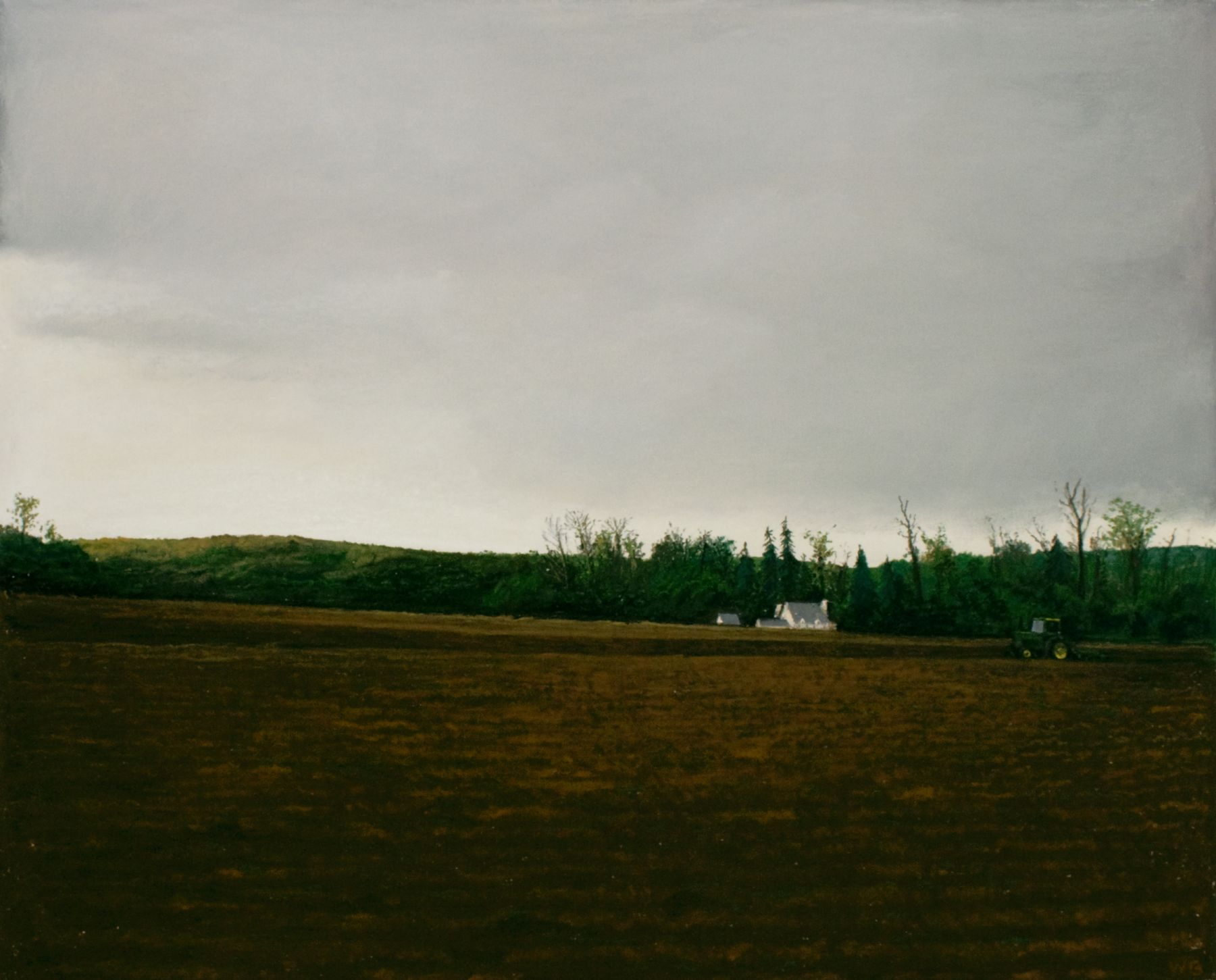 william beckman, John Deere 2, 2014, pastel on paper, image: 19 3/4 x 23 3/4 inches, paper: 23 3/4 x 27 3/4 inches