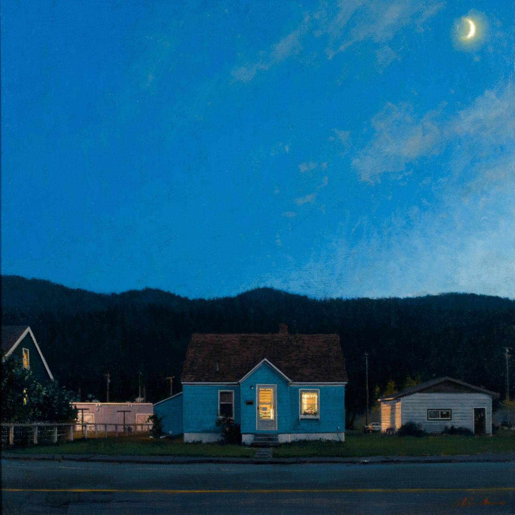 Linden Frederick, Idaho (SOLD), 2007, oil on panel, 12 1/4 x 12 1/4 inches