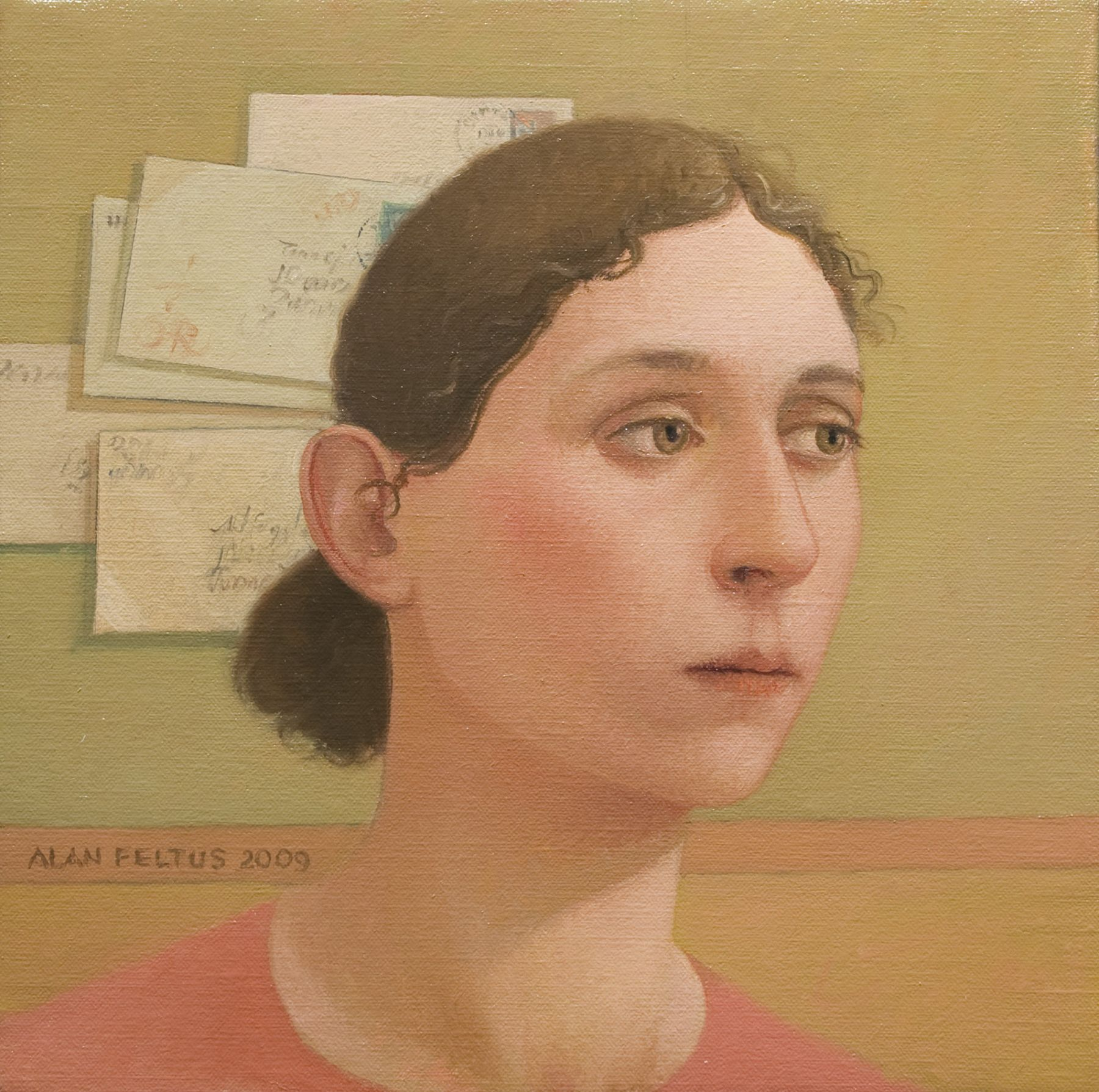 alan feltus, Anna Maria, 2009, oil on canvas, 11 3/4 x 11 3/4 inches