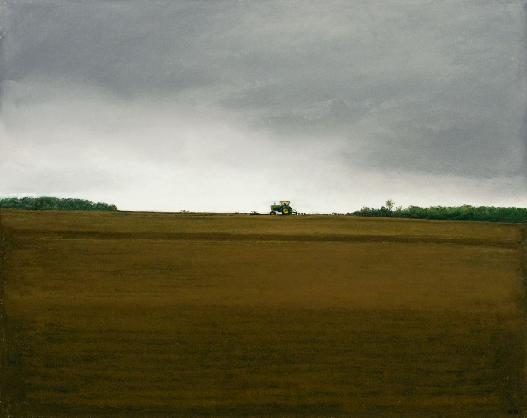 william beckman, John Deere 3, 2014, pastel on paper, image: 24 x 20 inches, paper: 26 x 30 inches