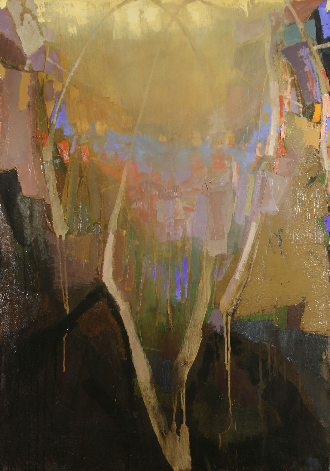 Brian Rutenberg, Tidesong 4 (SOLD), 2008, oil on linen, 36 x 25 inches