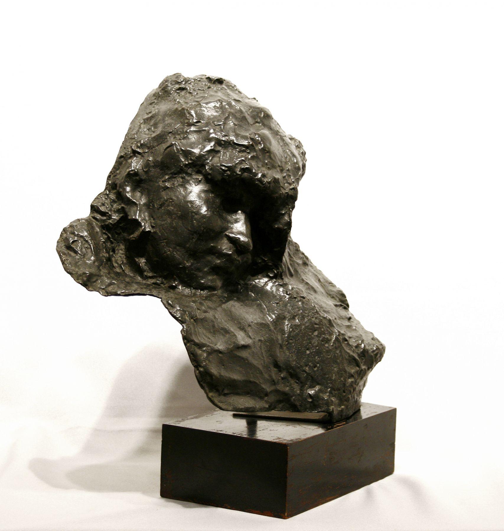 Medardo Rosso, Carne Altrui, c. 1883, bronze, 13 1/2 x 14 x 10 inches