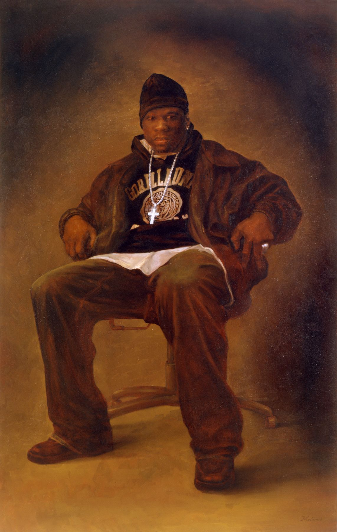 Alex Melamid, 50 Cent, 2005, oil on canvas, 82 x 52 inches