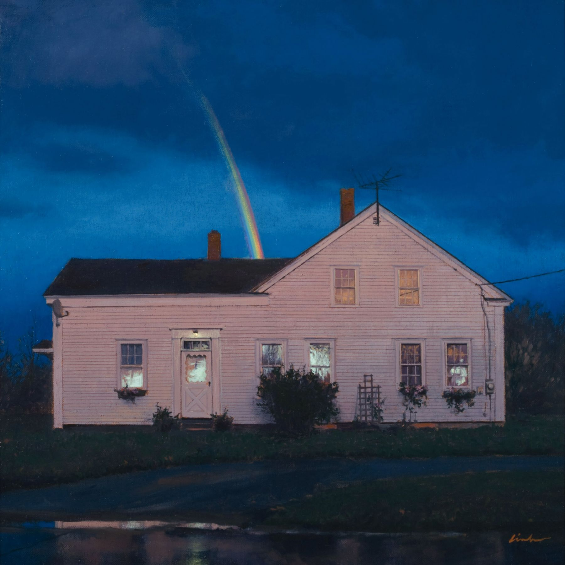 Linden Frederick, Prism (SOLD), 2007, oil on panel, 12 1/4 x 12 1/4 inches