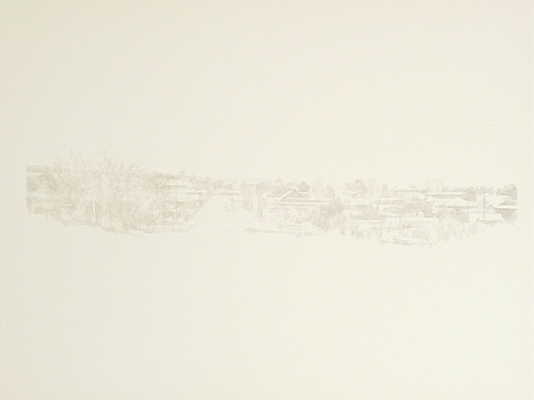 Robert Bauer, Marfa, TX, 2011, brush and ink on paper, 11 x 15 inches