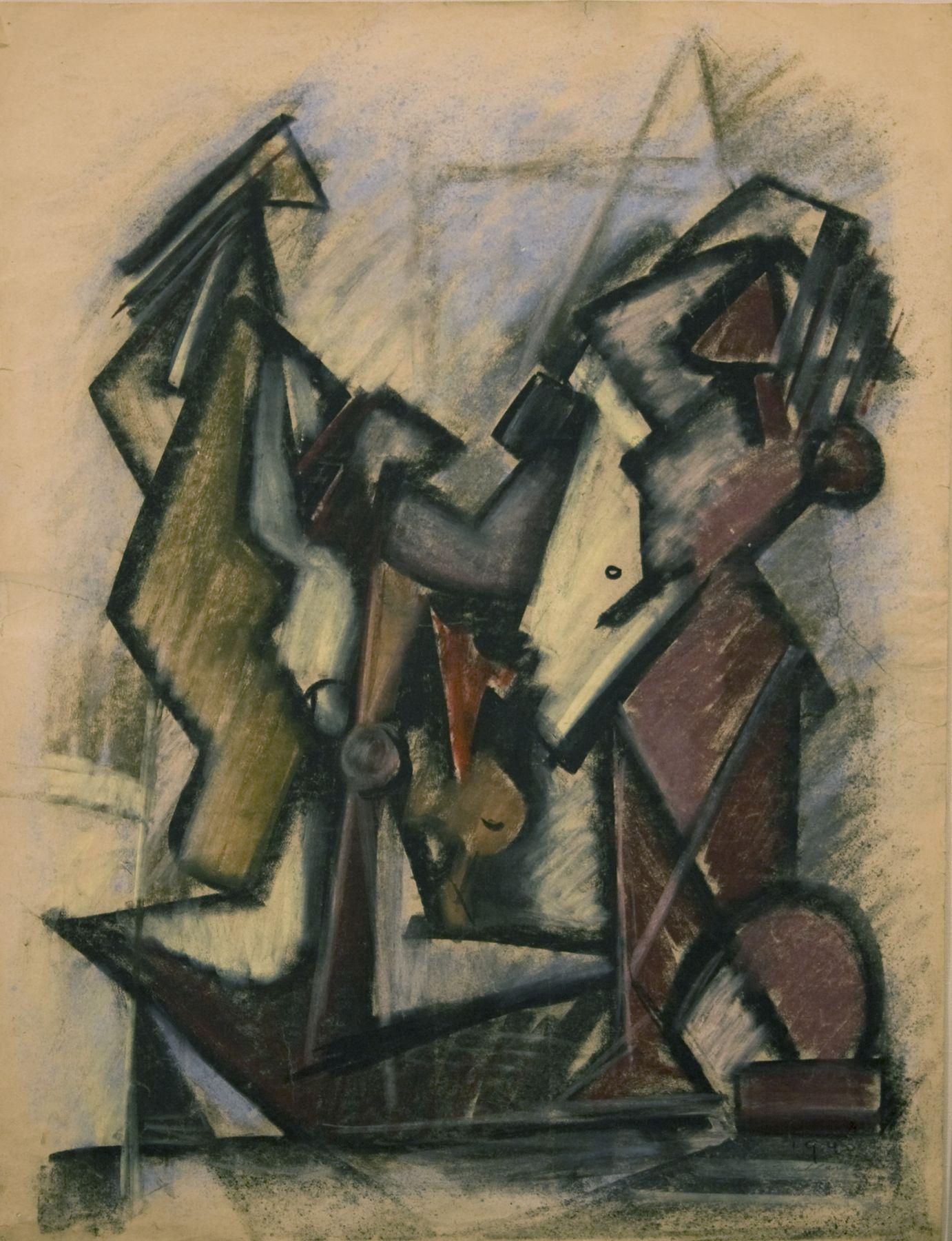 Hans Burkhardt, Untitled, 1940, pastel on paper, 24 1/8 x 18 inches
