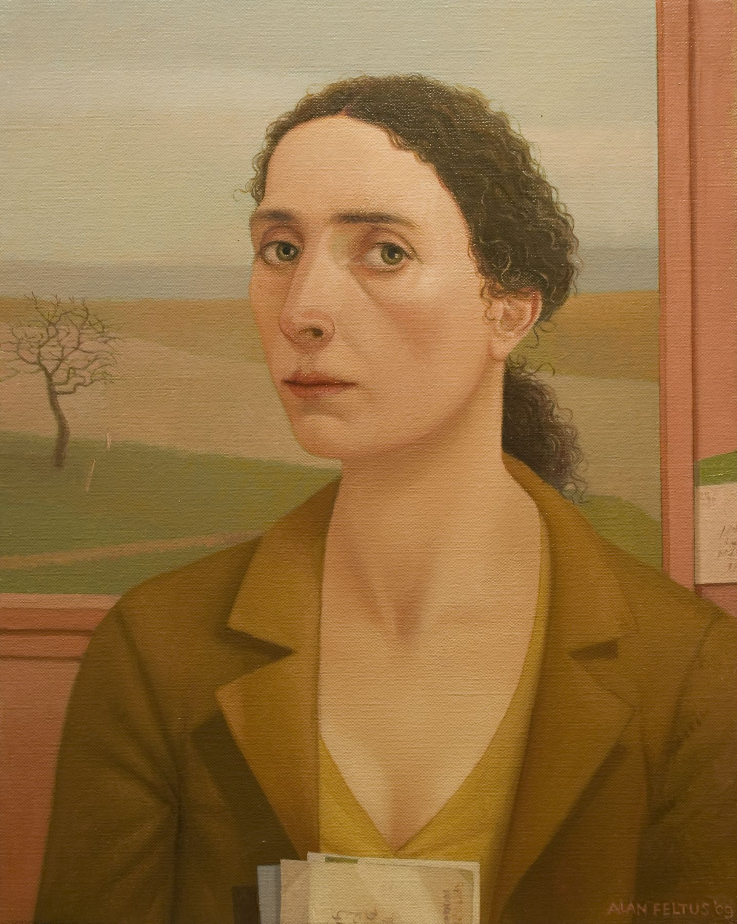 alan feltus, Anna Eva, 2009, oil on canvas, 19 3/4 x 15 3/4 inches