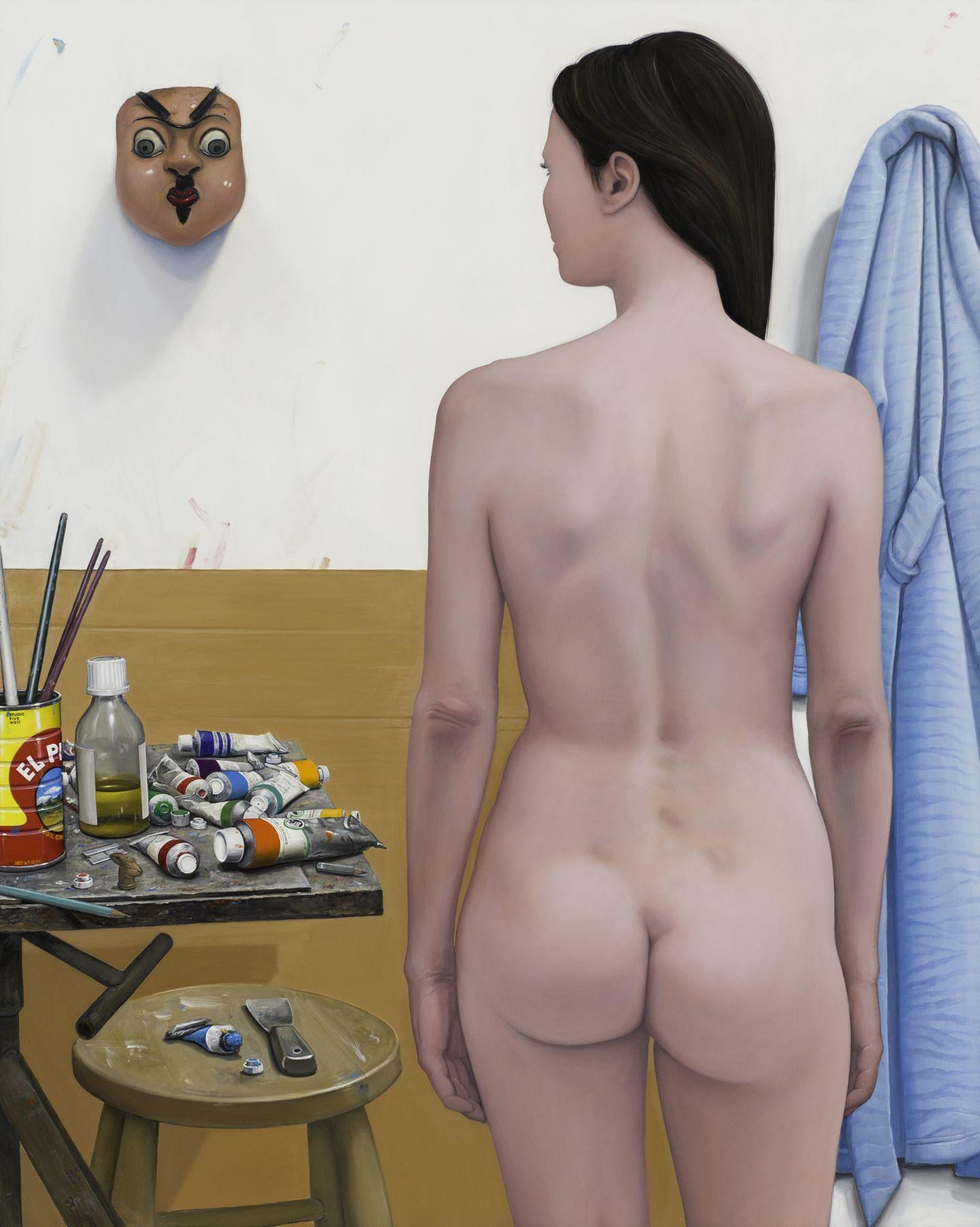 William Beckman, Studio Five, 2010-12, oil on panel, 60 x 49 1/4 inches