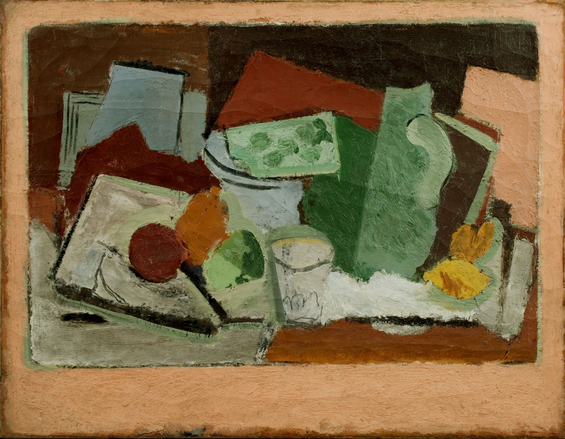 Arshile Gorky, Still Life (Nature Morte), c.1928, oil on canvas, 26 1/8 x 34 1/8 inches